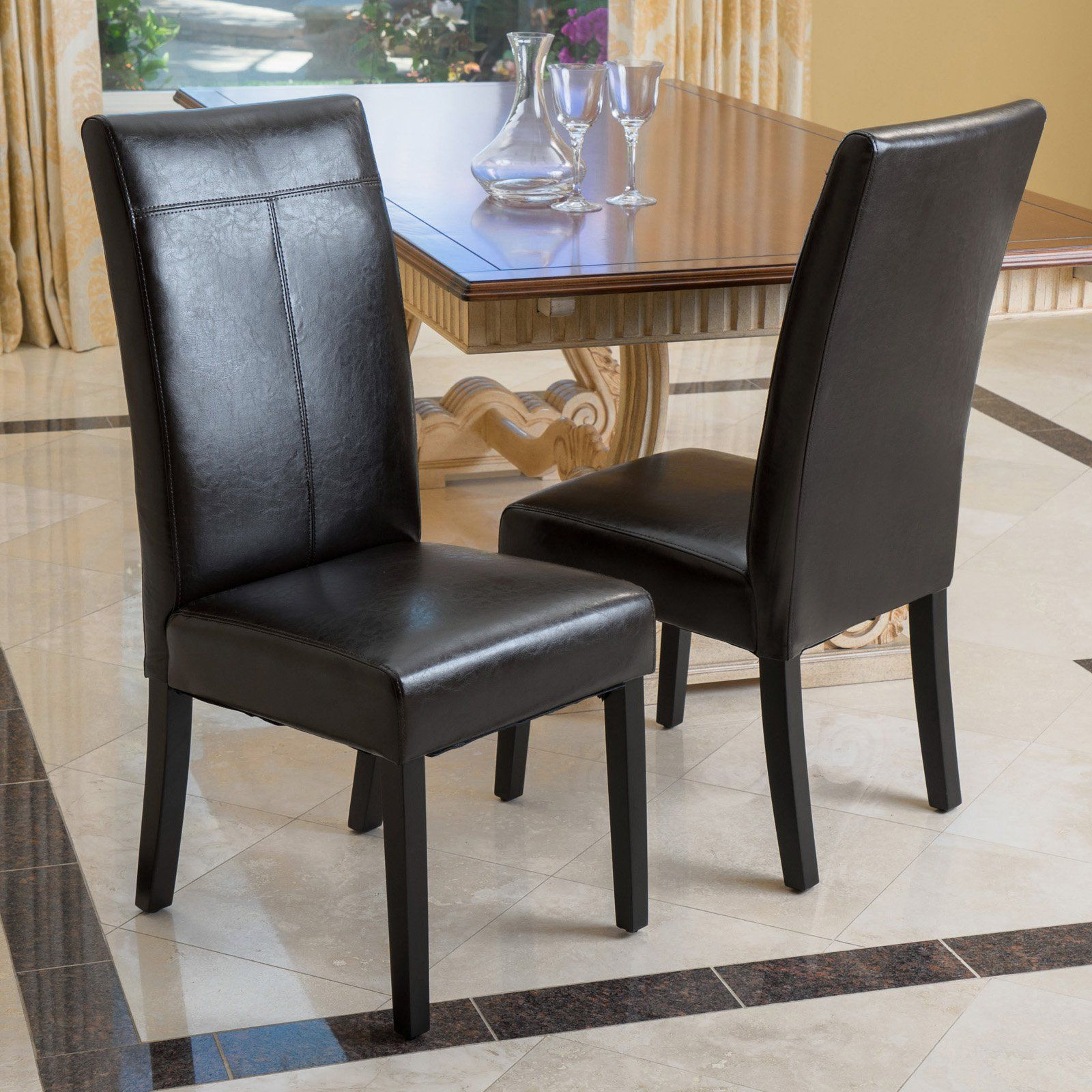 Favorite Baillie 3 Piece Dining Sets With Regard To Best Selling Home Caleb Pu Leather Dining Chair – Set Of 2 –  (View 11 of 20)