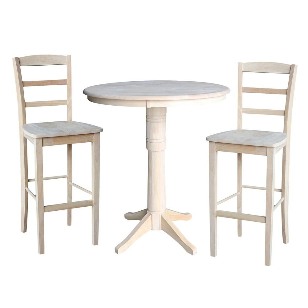 Favorite Crownover 3 Piece Bar Table Sets Within International Concepts 36 In (View 17 of 20)