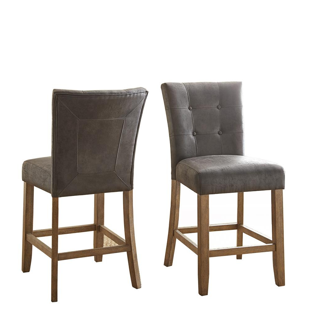Favorite Debby Counter Chair Grey (Set Of 2) Throughout Debby Small Space 3 Piece Dining Sets (Gallery 19 of 20)