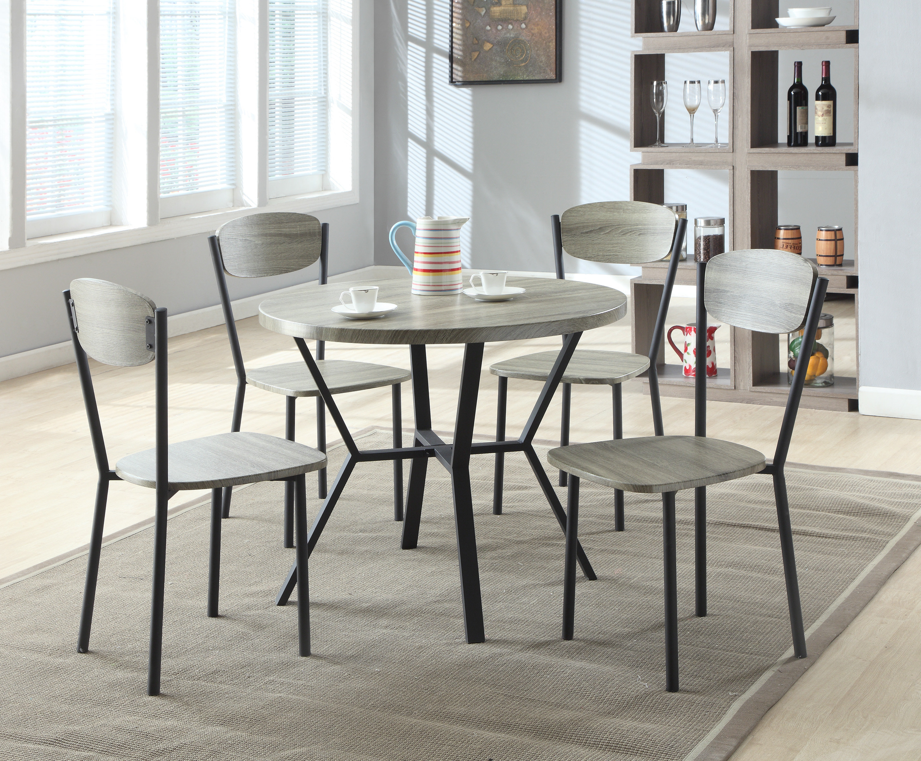 Favorite Felicia 5 Piece Dining Set With Tavarez 5 Piece Dining Sets (Gallery 13 of 20)
