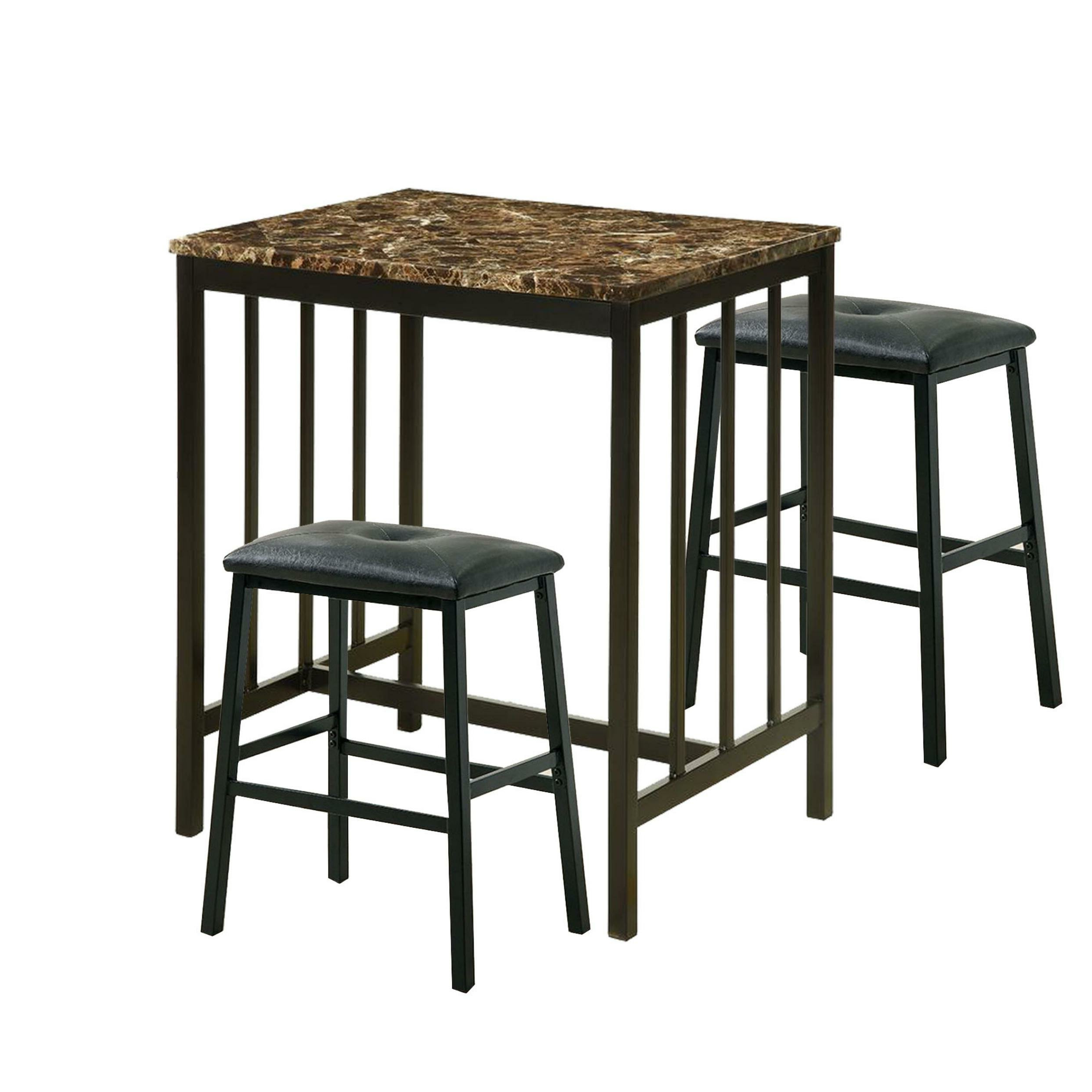 Favorite Kernville 3 Piece Counter Height Dining Sets Intended For Parton 3 Piece Pub Table Set (View 4 of 20)