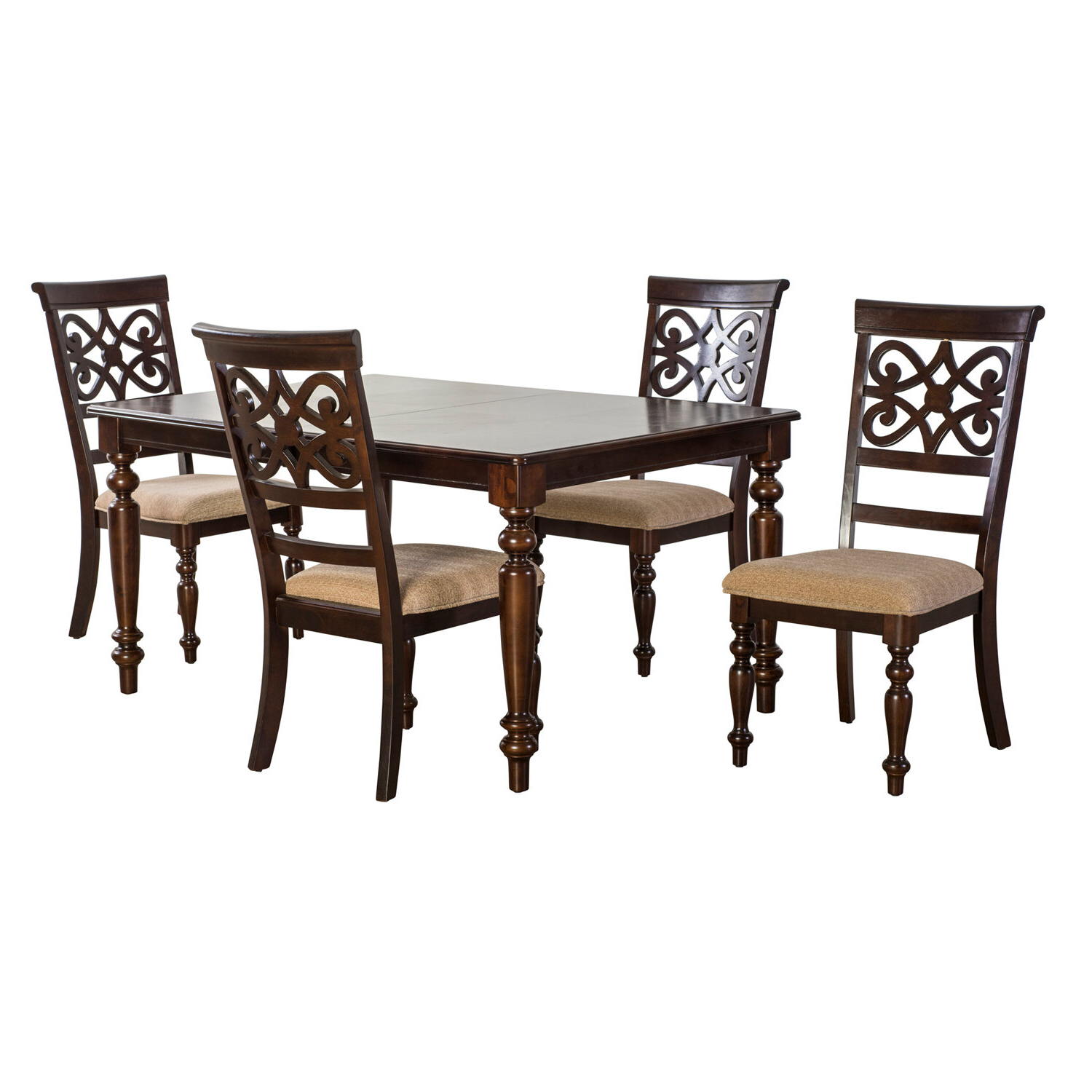 Favorite Laconia 5 Piece Extendable Dining Set With Laconia 7 Pieces Solid Wood Dining Sets (set Of 7) (View 12 of 20)