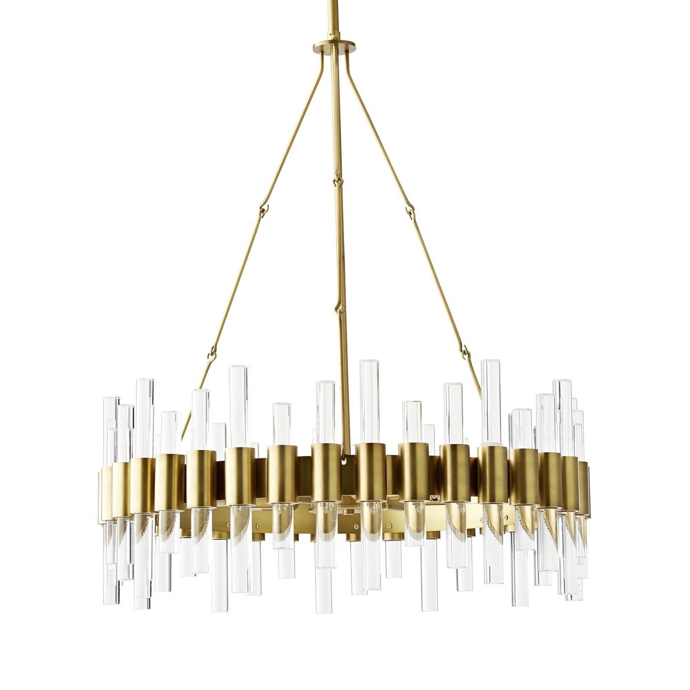 Favorite Miskell 5 Piece Dining Sets With Miskell Brass & Lucite Chandelier (View 14 of 20)