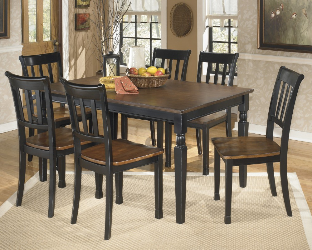 Favorite Owingsville Rectangular Dining Room Table & 6 Side Chairs Regarding Cargo 5 Piece Dining Sets (View 14 of 20)