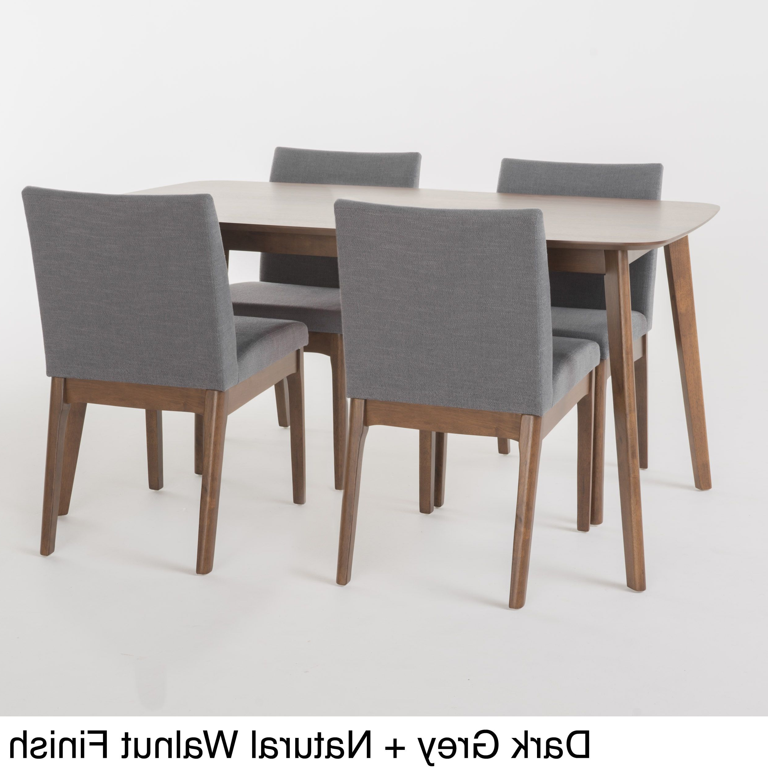 Favorite Sundberg 5 Piece Solid Wood Dining Sets Throughout Kwame Mid Century 5 Piece Rectangle Dining Setchristopher Knight (Gallery 19 of 20)