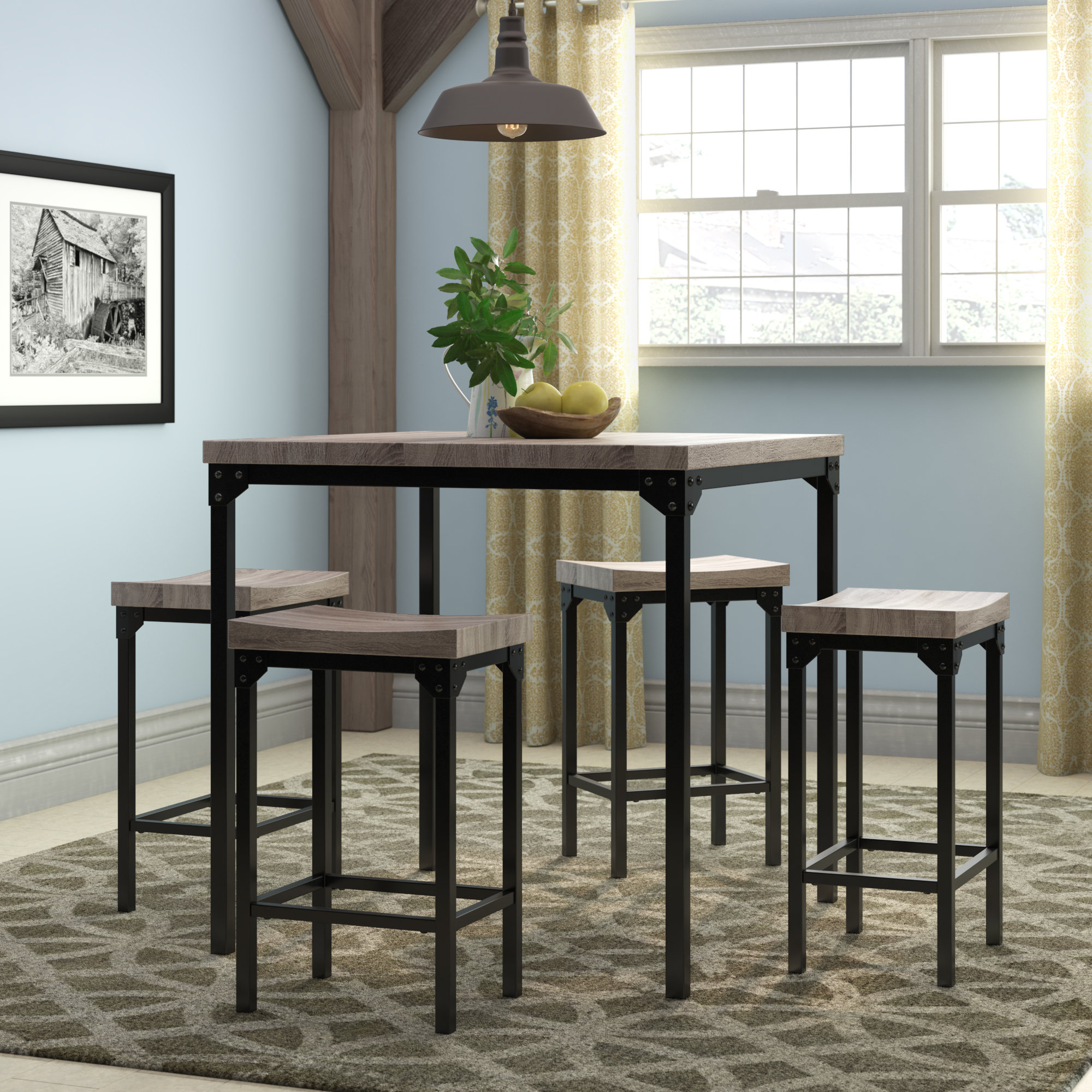Favorite Winsted 4 Piece Counter Height Dining Sets Within Wegner 5 Piece Counter Height Dining Set (View 3 of 20)