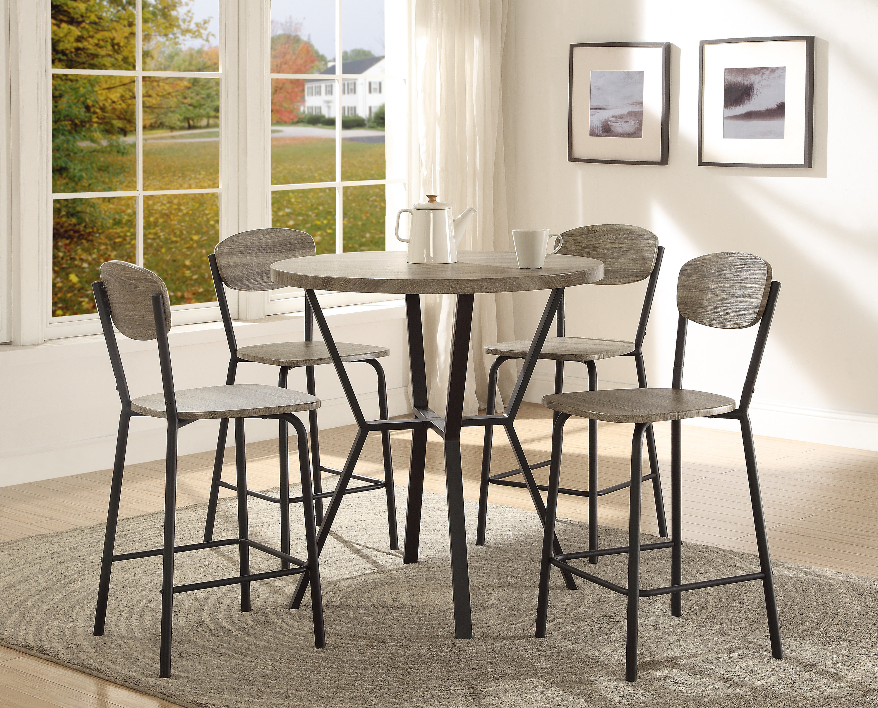 Felicia 5 Piece Counter Height Dining Set Throughout Favorite Middleport 5 Piece Dining Sets (Gallery 9 of 20)