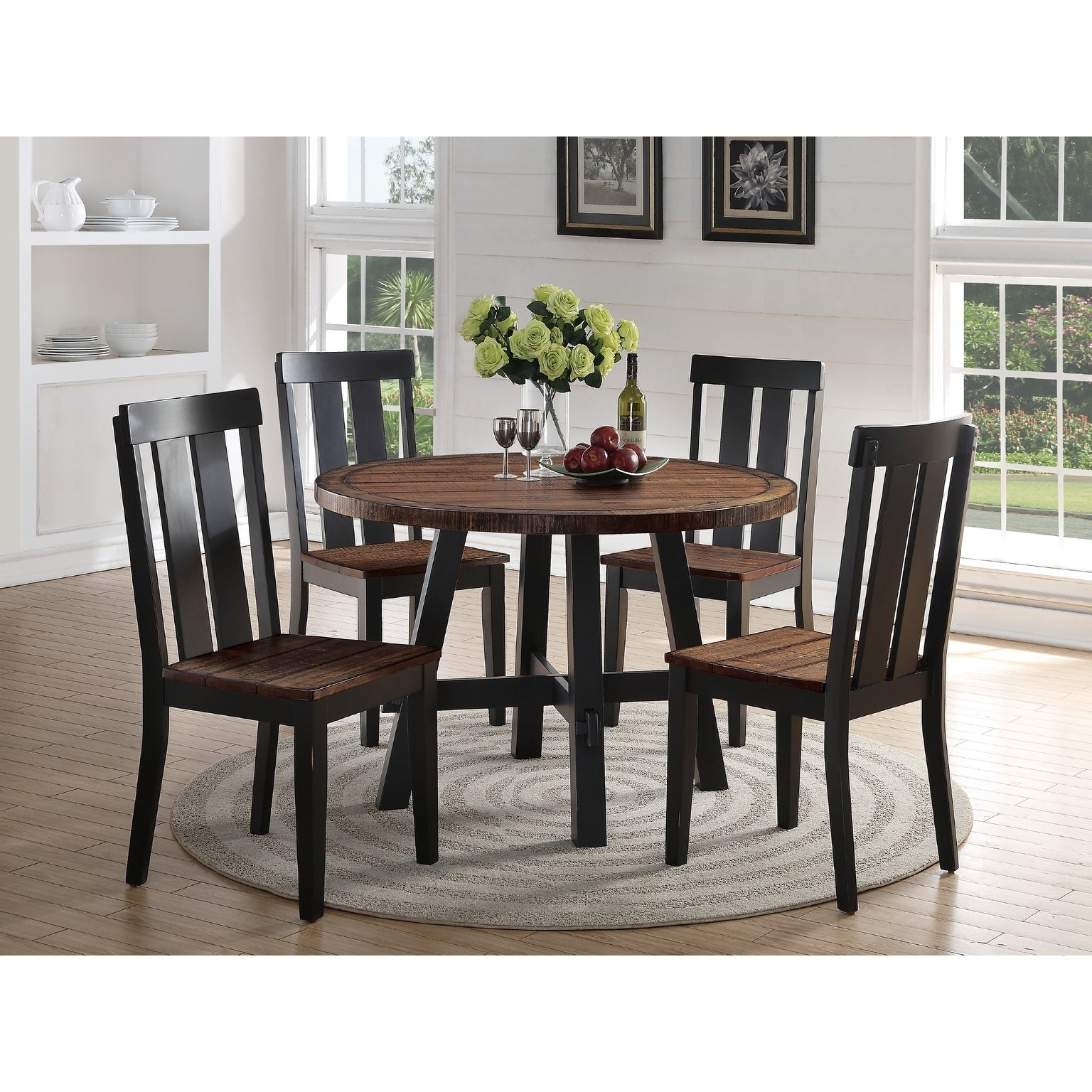Find Great Furniture Inside Goodman 5 Piece Solid Wood Dining Sets (Set Of 5) (View 4 of 20)