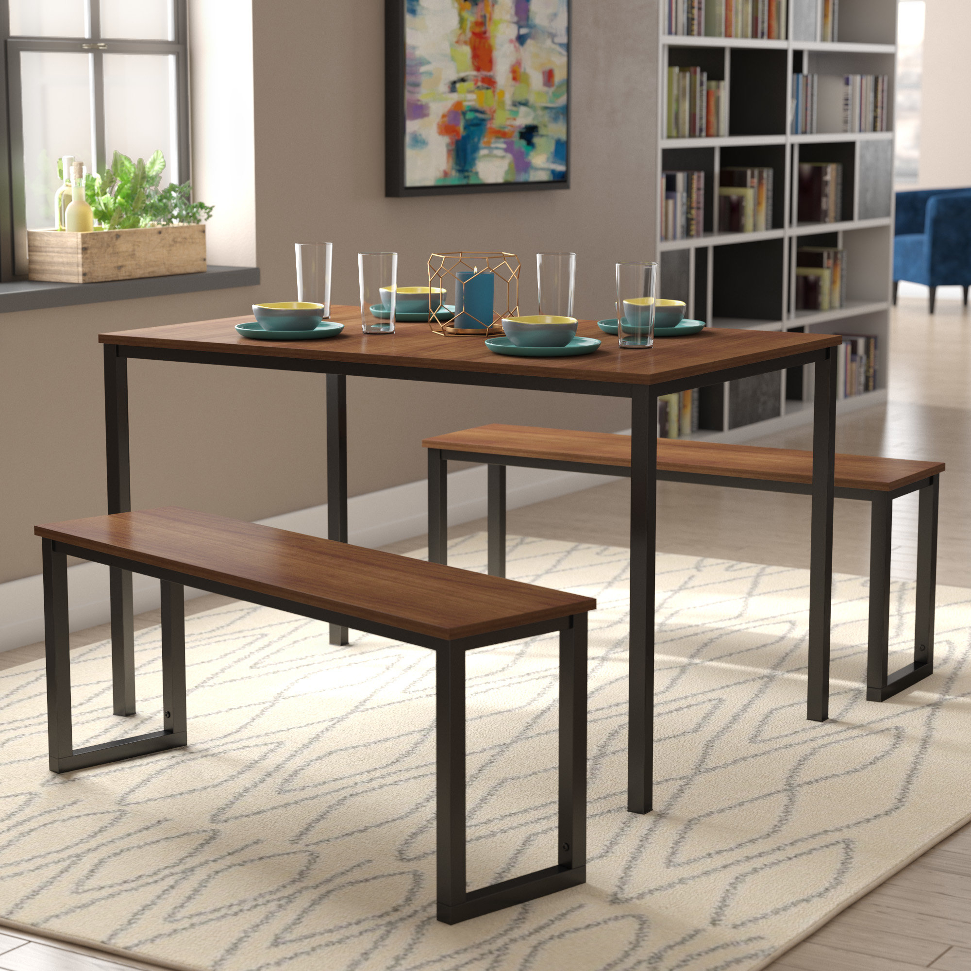 Frida 3 Piece Dining Table Set Inside Well Known Frida 3 Piece Dining Table Sets (Gallery 3 of 20)