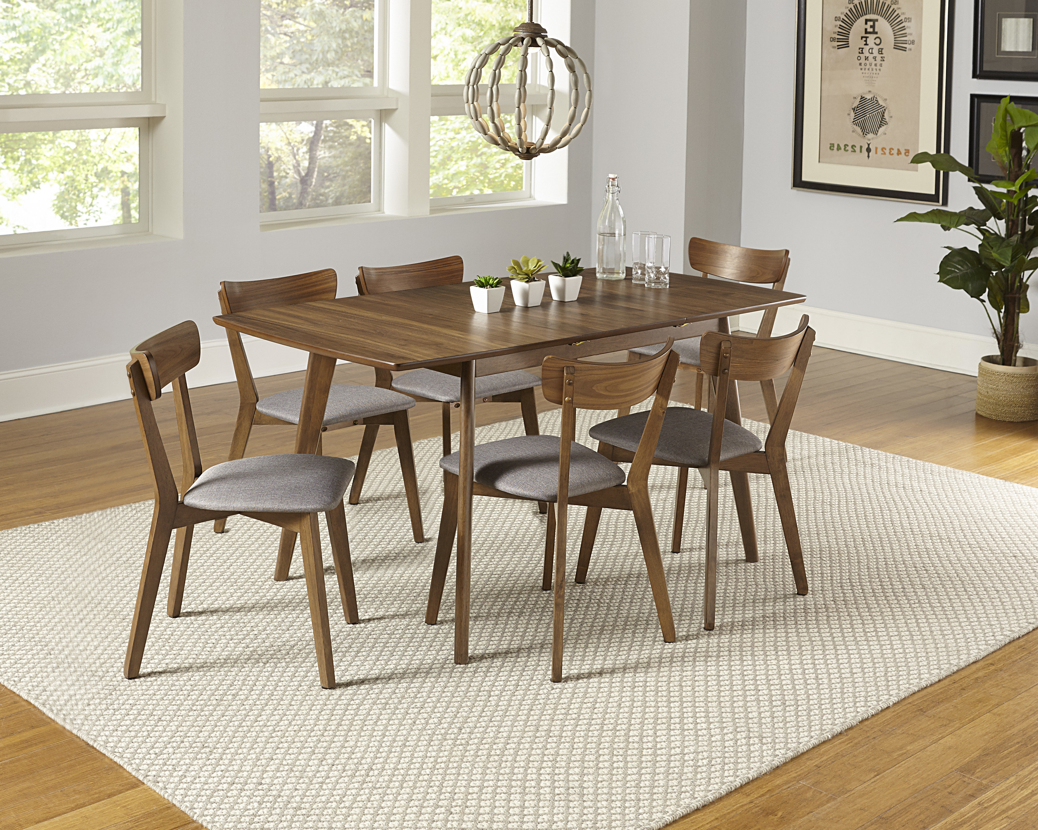 Frida 3 Piece Dining Table Sets With Latest Rockaway 7 Piece Extendable Solid Wood Dining Set (View 10 of 20)