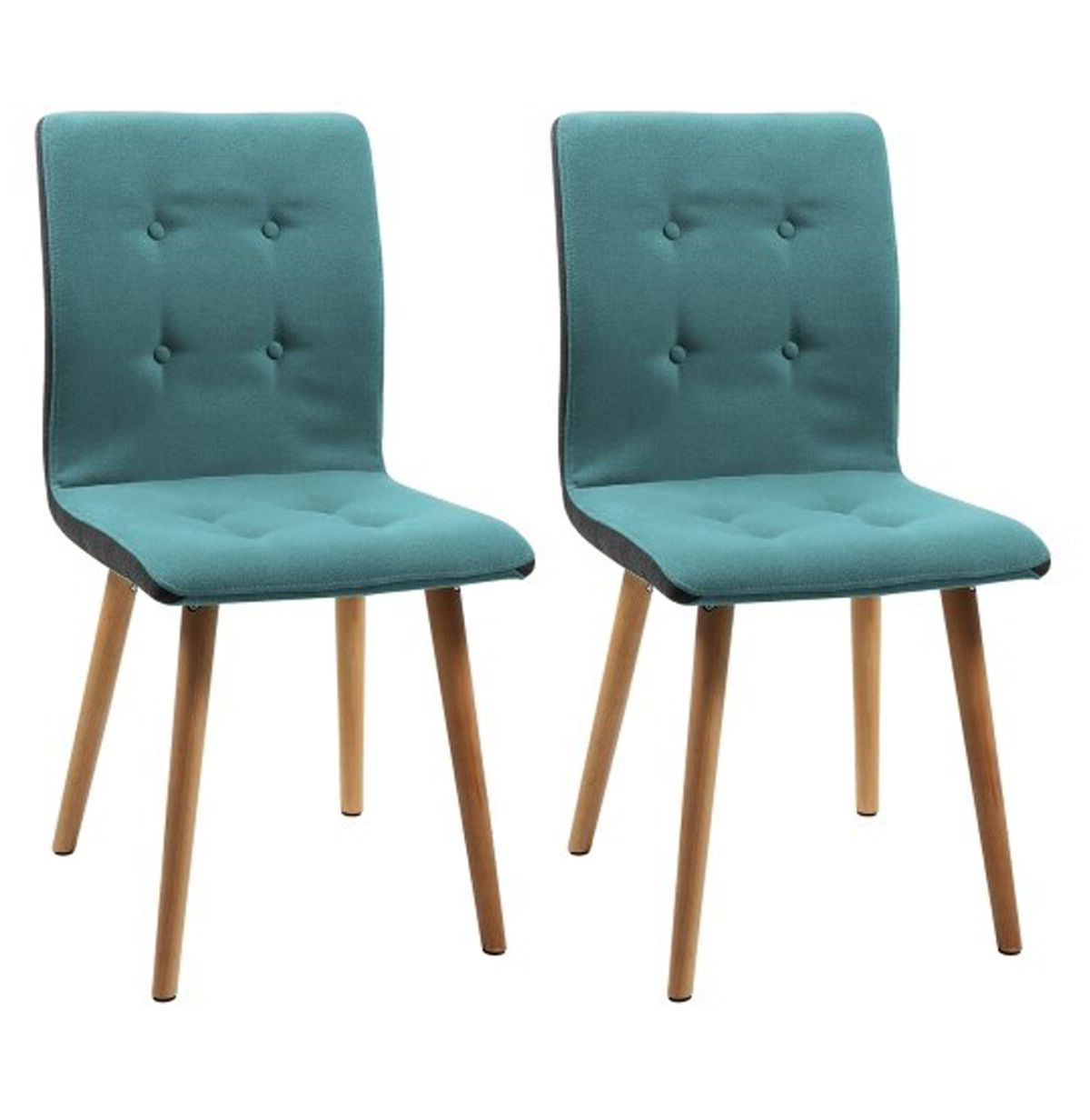 Frida 3 Piece Dining Table Sets Within Most Recent Frida Dining Chairs Teal Coloured Fabric (Pair) (View 11 of 20)