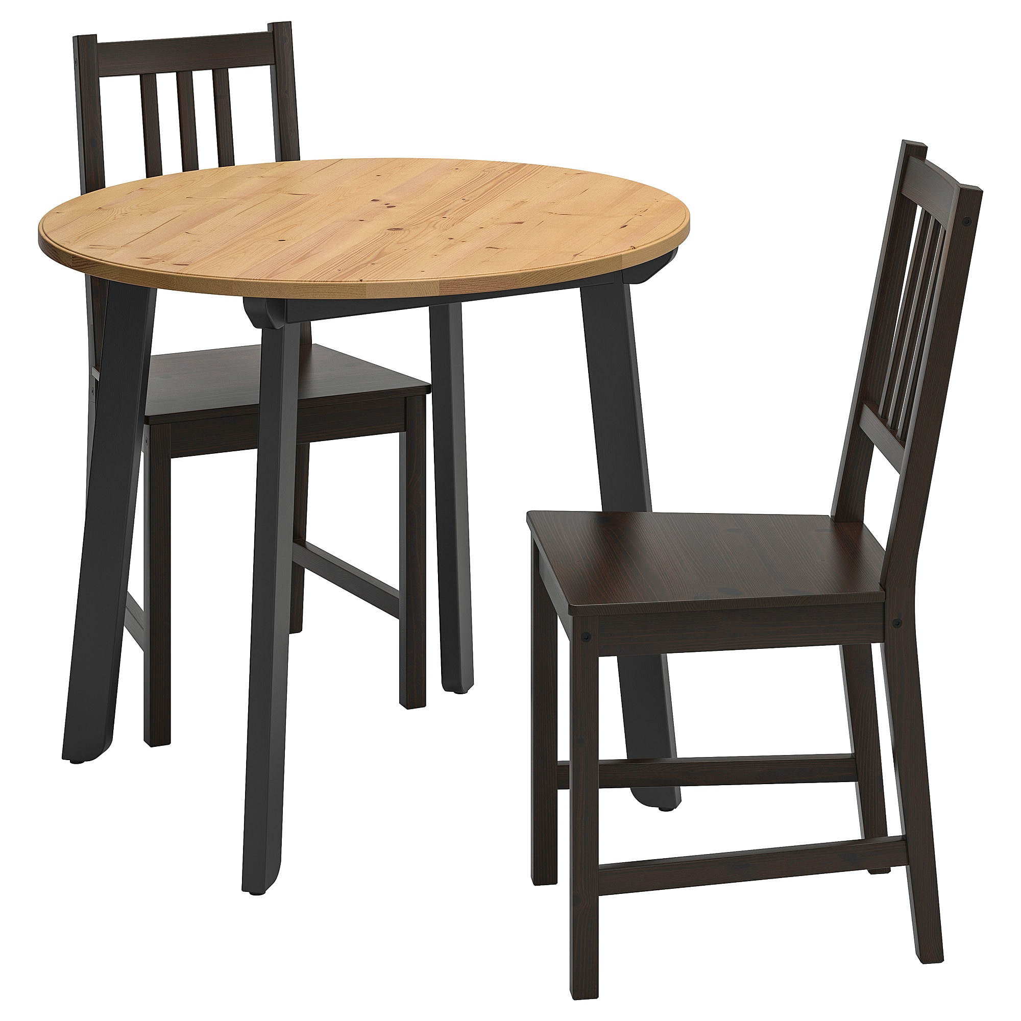 Gamlared / Stefan – Table And 2 Chairs, Light Antique Stain, Brown Black With Latest Ligon 3 Piece Breakfast Nook Dining Sets (View 4 of 20)