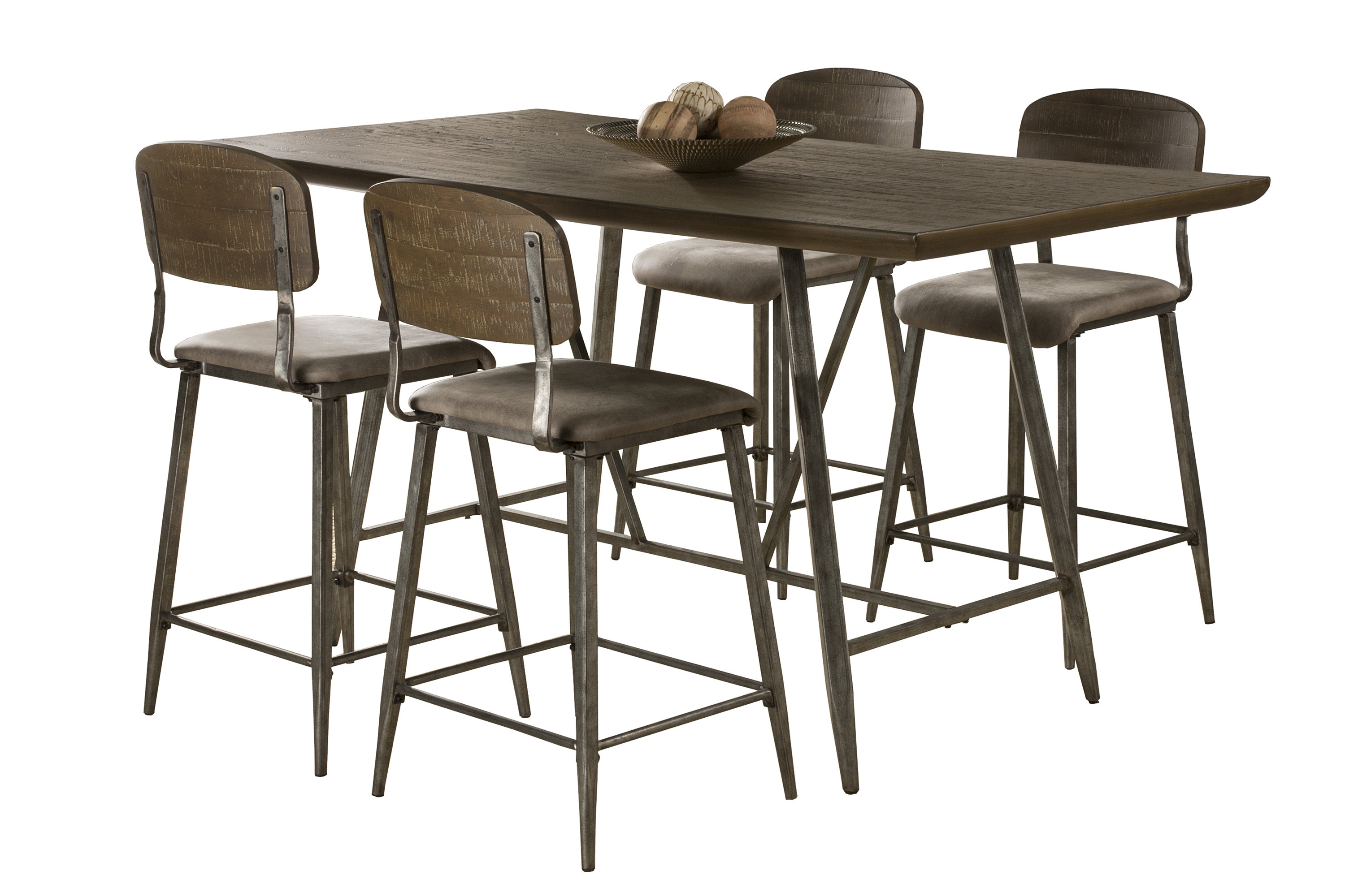 Georgia 5 Piece Counter Height Dining Set Within Favorite Wiggs 5 Piece Dining Sets (View 13 of 20)