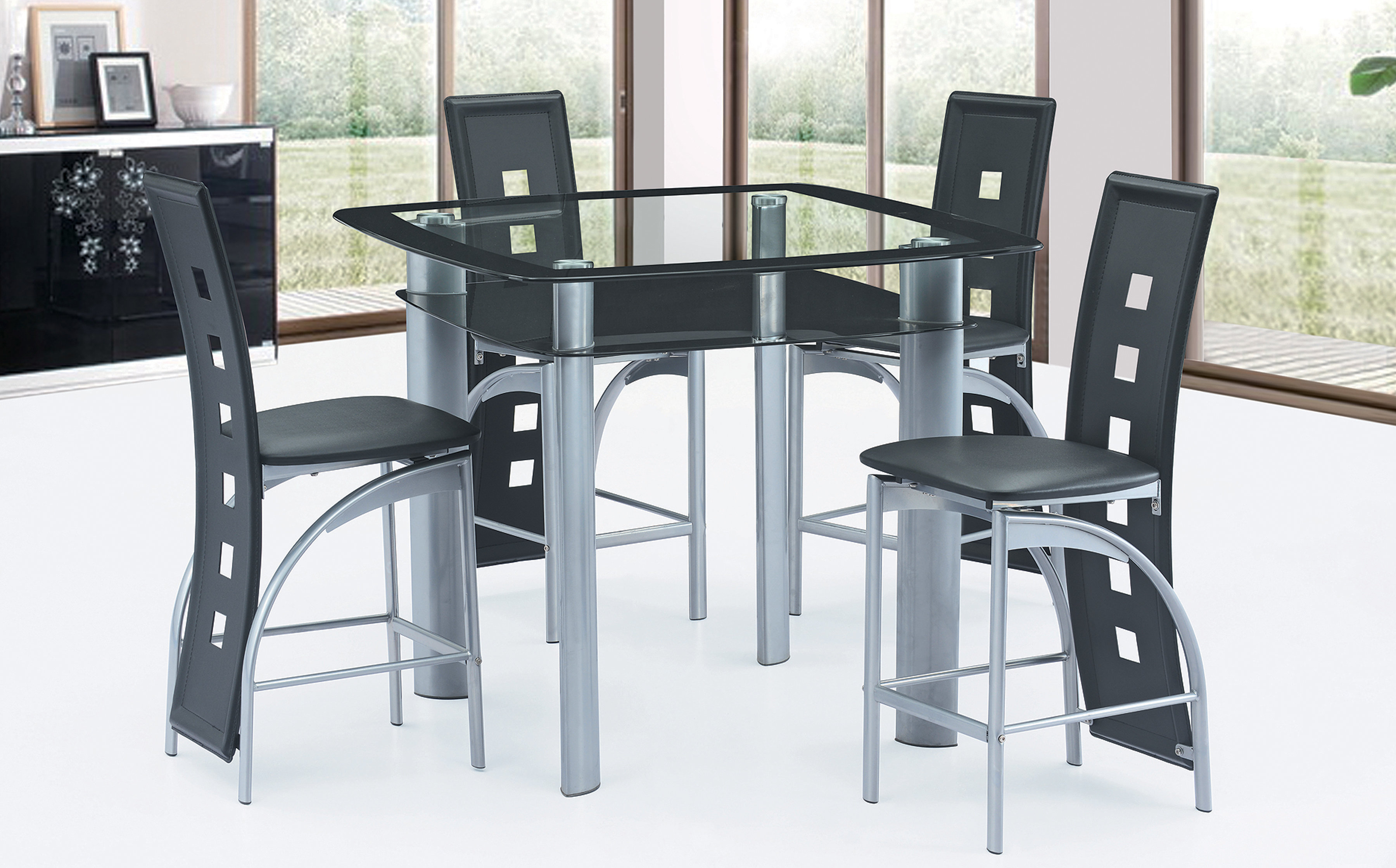 Glenloft 5 Piece Counter Height Dining Set Intended For Latest Honoria 3 Piece Dining Sets (View 18 of 20)