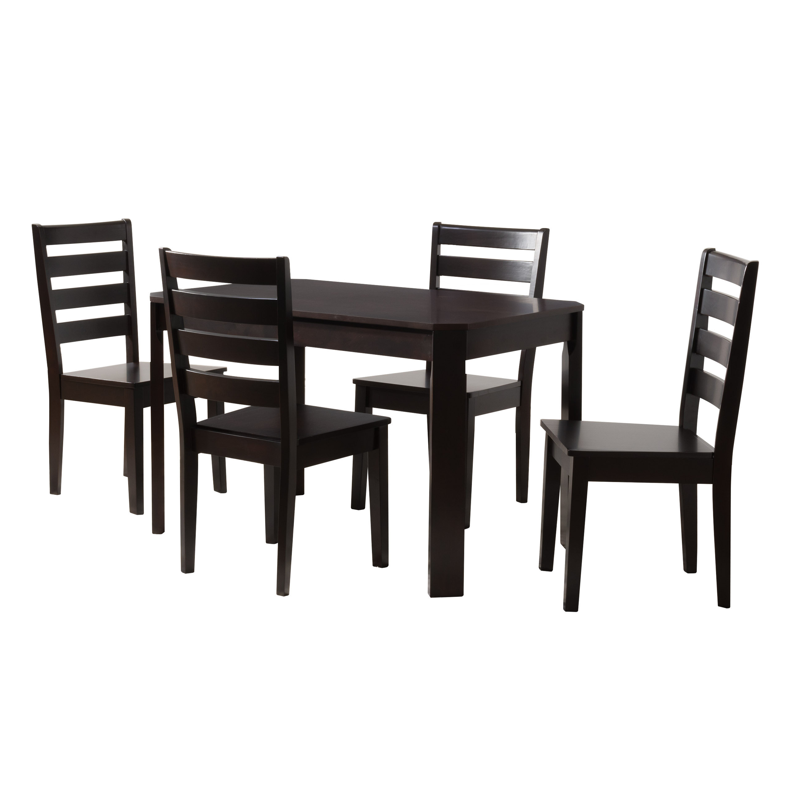 Goodman 5 Piece Solid Wood Dining Set Throughout Famous Goodman 5 Piece Solid Wood Dining Sets (Set Of 5) (View 7 of 20)