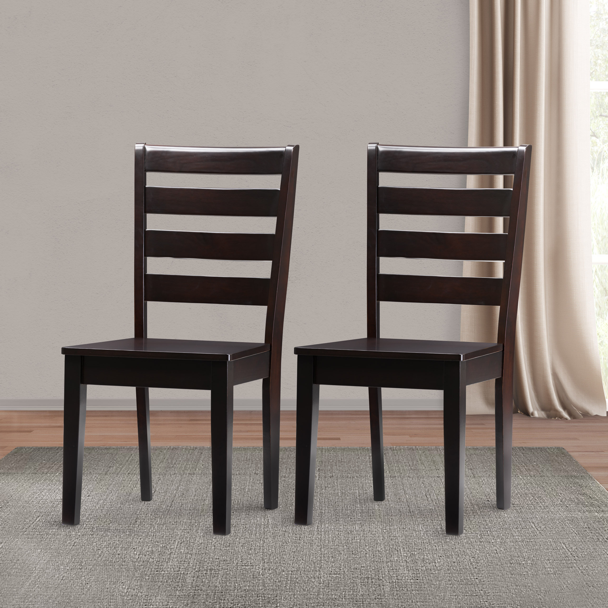 Goodman 5 Piece Solid Wood Dining Sets (Set Of 5) For Most Recently Released Goodman Solid Wood Dining Chair (View 8 of 20)