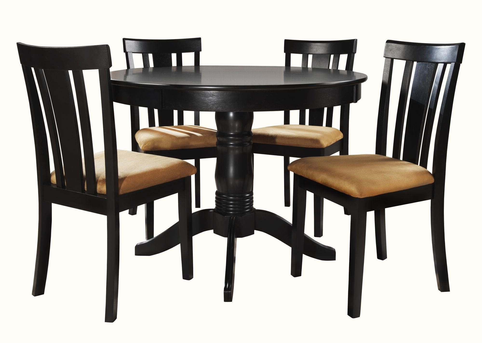 Goodman 5 Piece Solid Wood Dining Sets (Set Of 5) In Popular Oneill Modern 5 Piece Wood Dining Set (View 9 of 20)