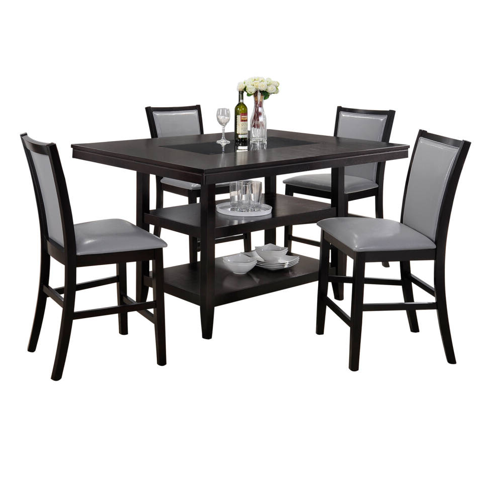 Goodman 5 Piece Solid Wood Dining Sets (Set Of 5) Regarding Best And Newest Ashton 5 Piece Dining Set (View 10 of 20)