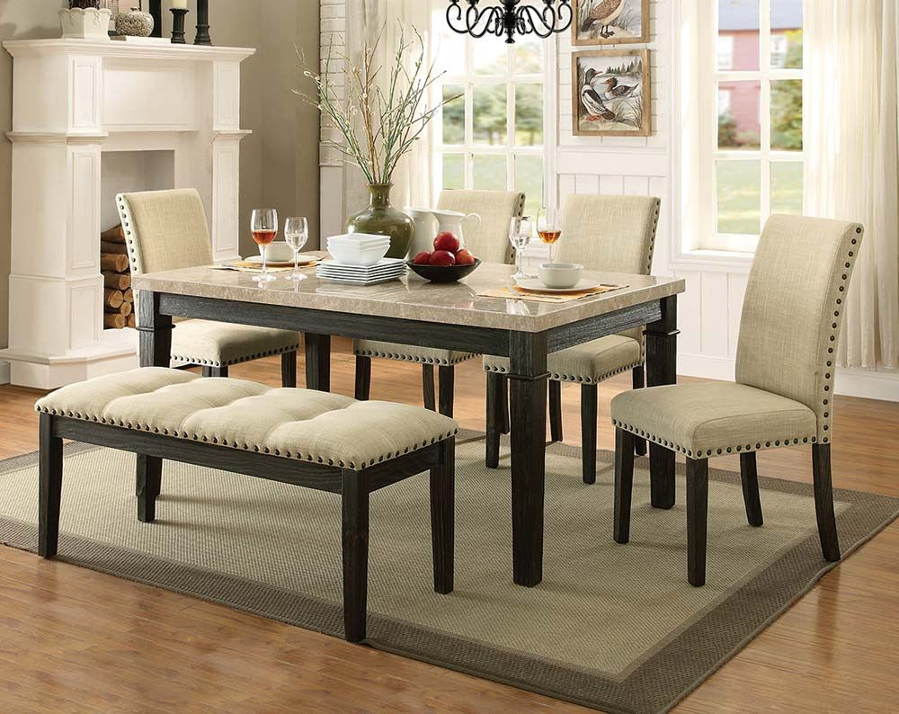 Greystone Marble 5 Piece Dining Set Pertaining To Cargo 5 Piece Dining Sets (View 16 of 20)