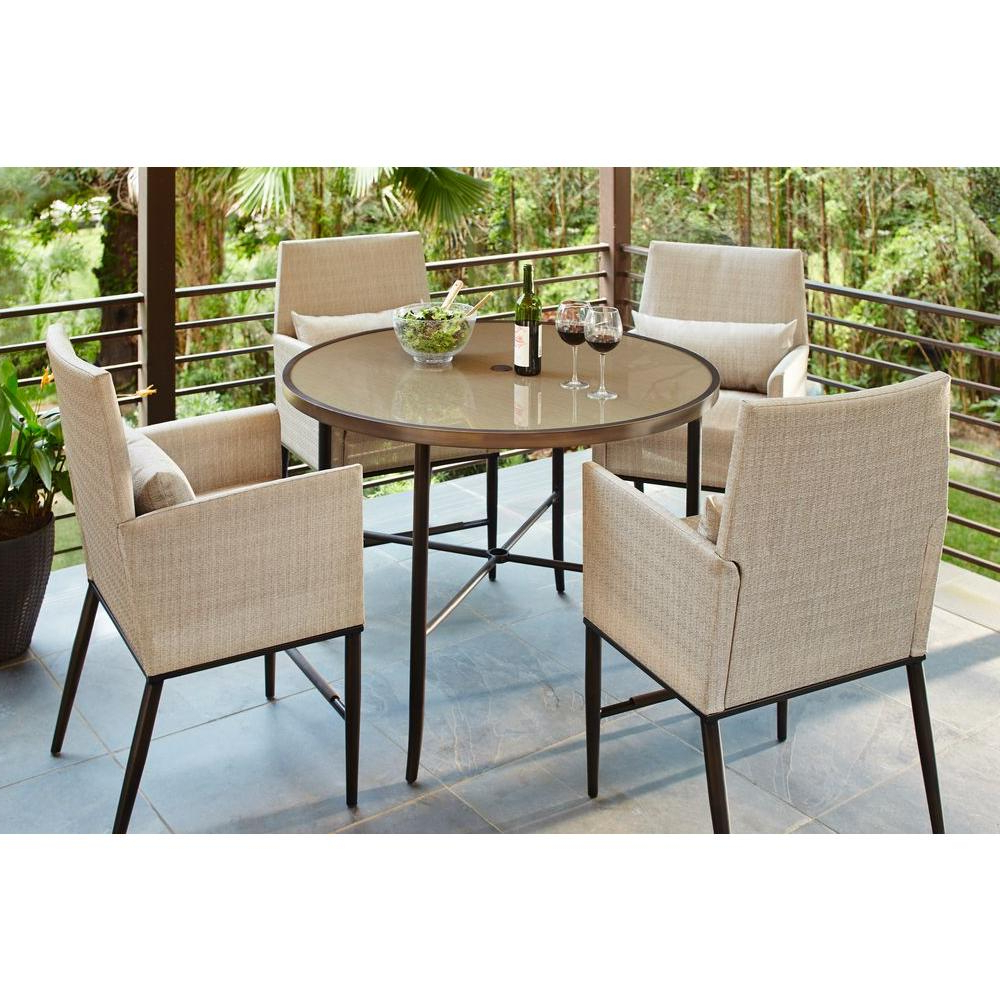 Hampton Bay Aria 5 Piece Patio High Dining Set Throughout Recent Aria 5 Piece Dining Sets (Gallery 1 of 20)