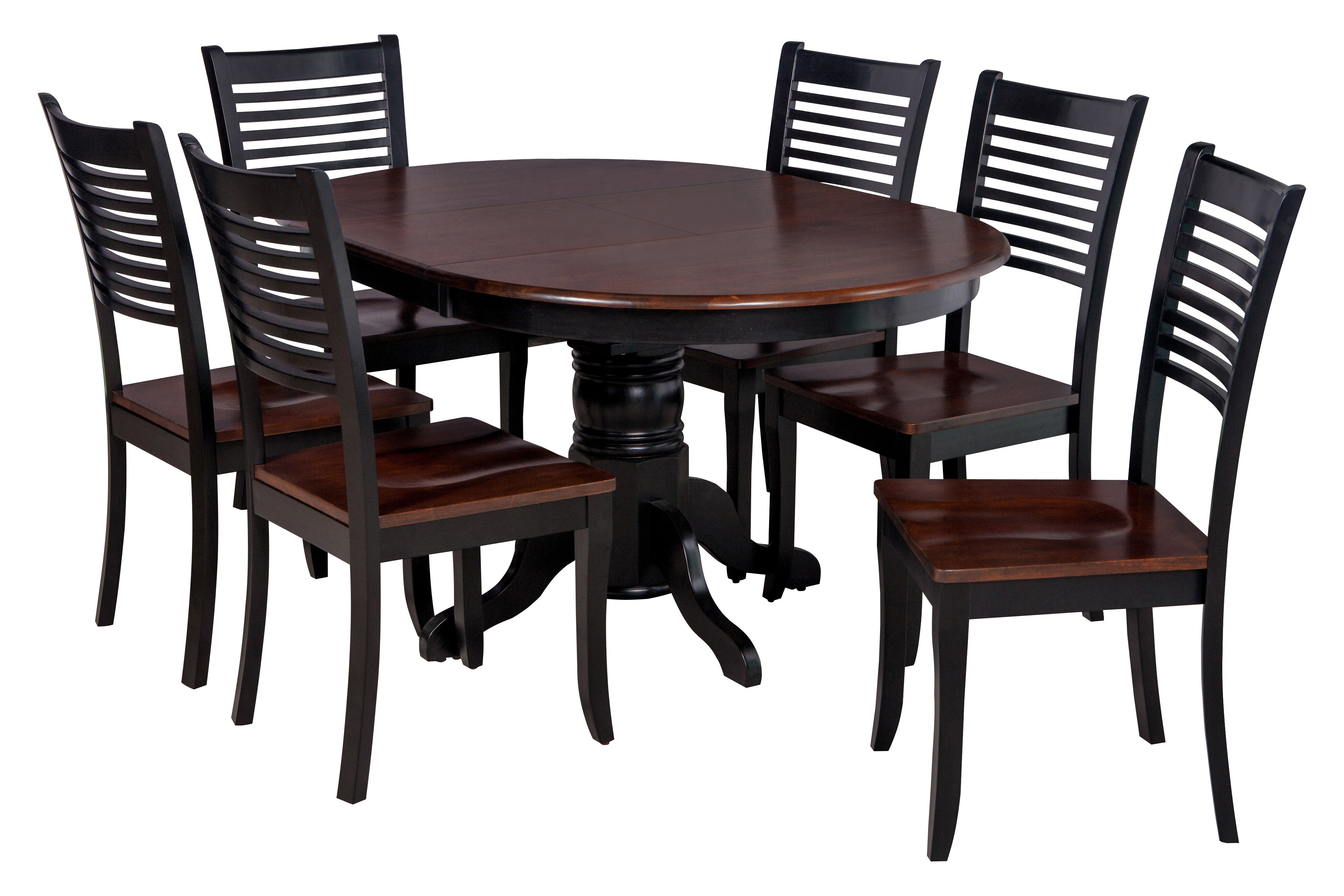 Hanska Wooden 5 Piece Counter Height Dining Table Sets (Set Of 5) In Trendy Valleyview 7 Piece Solid Wood Dining Set (Gallery 5 of 20)