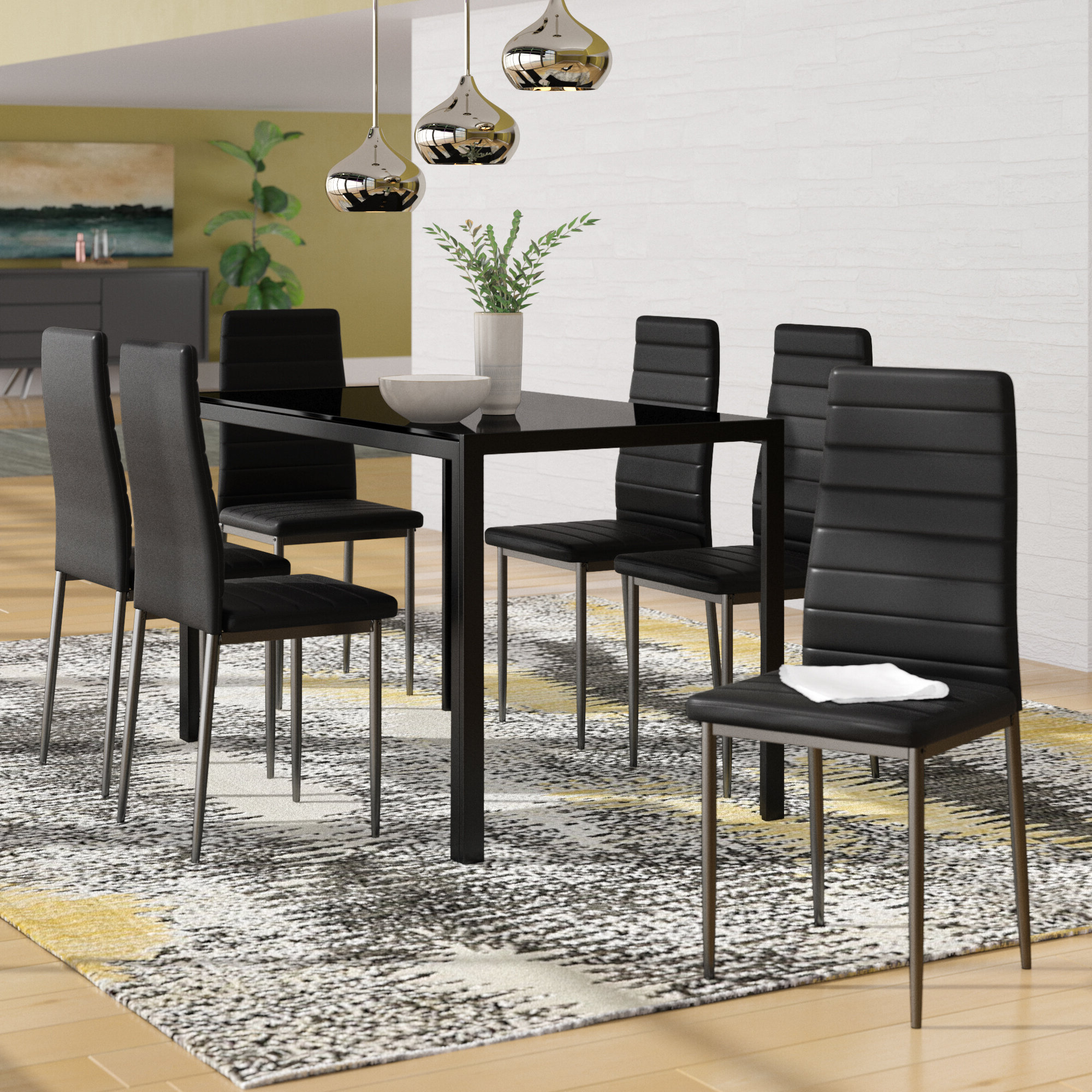 Haris 6 Piece Breakfast Nook Dining Set Within Most Recent Linette 5 Piece Dining Table Sets (Gallery 11 of 20)