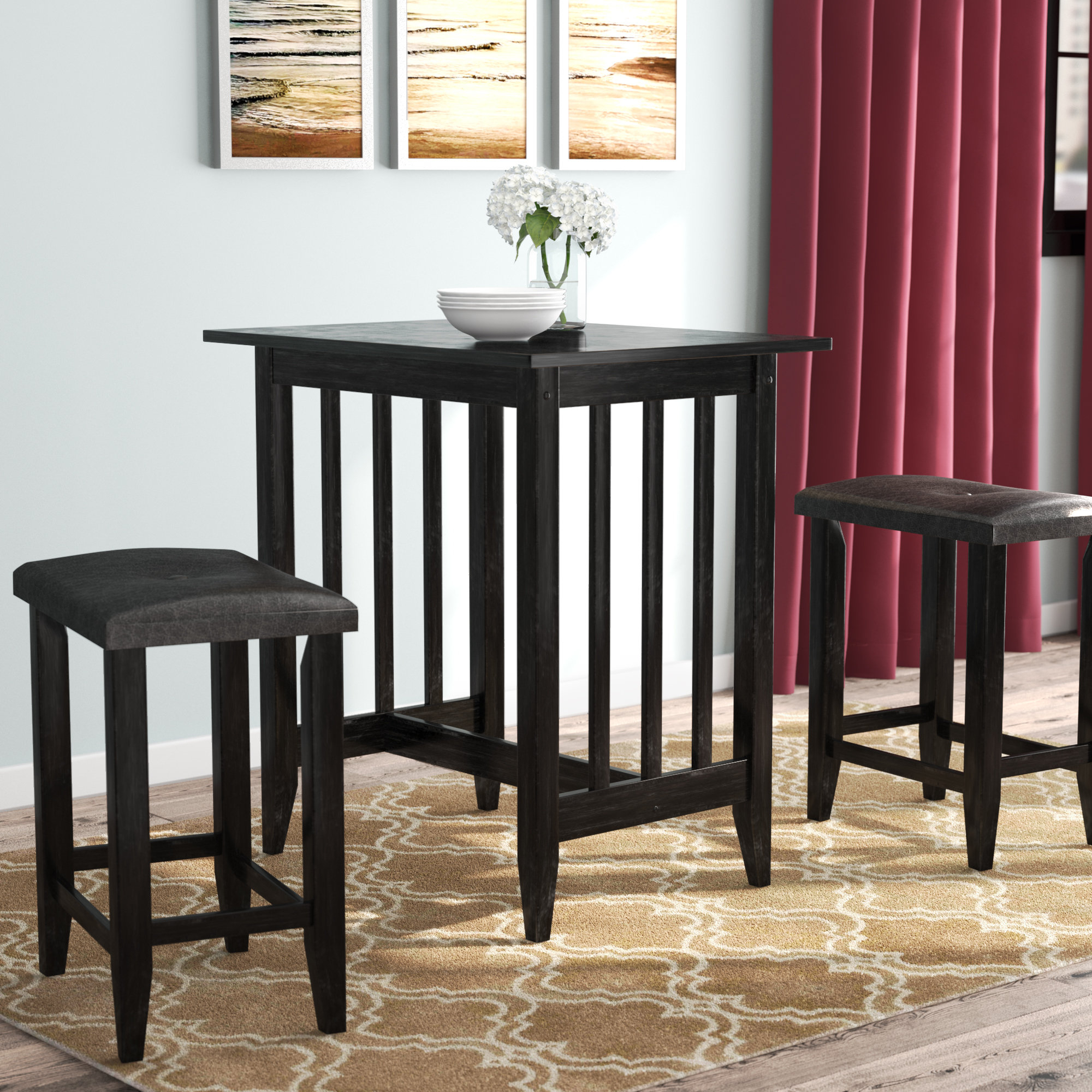 Hood Canal 3 Piece Dining Sets For Most Current Richland 3 Piece Counter Height Pub Table Set (View 4 of 20)