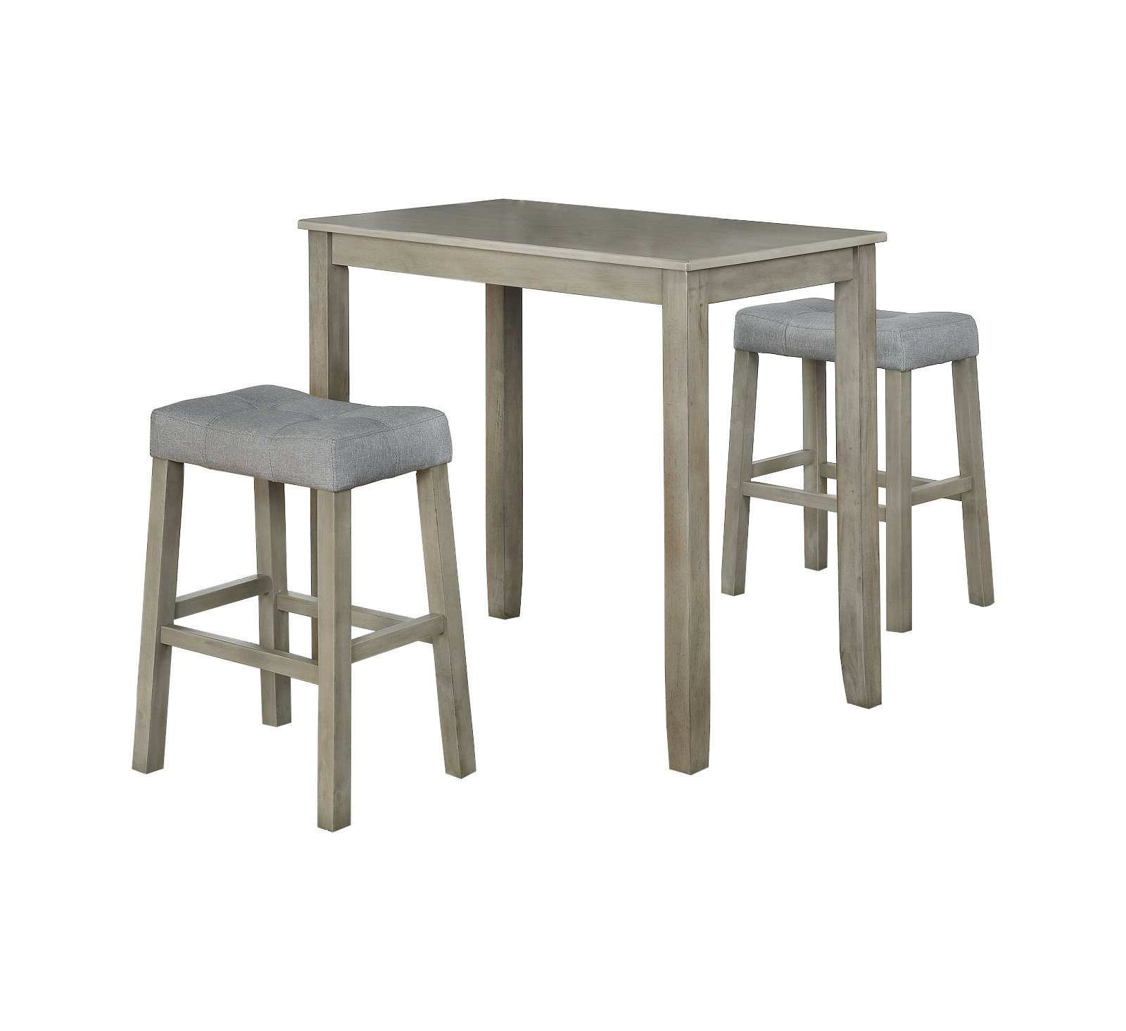 Hood Canal 3 Piece Dining Sets Pertaining To Famous Falmer 3 Piece Solid Wood Dining Set (View 18 of 20)