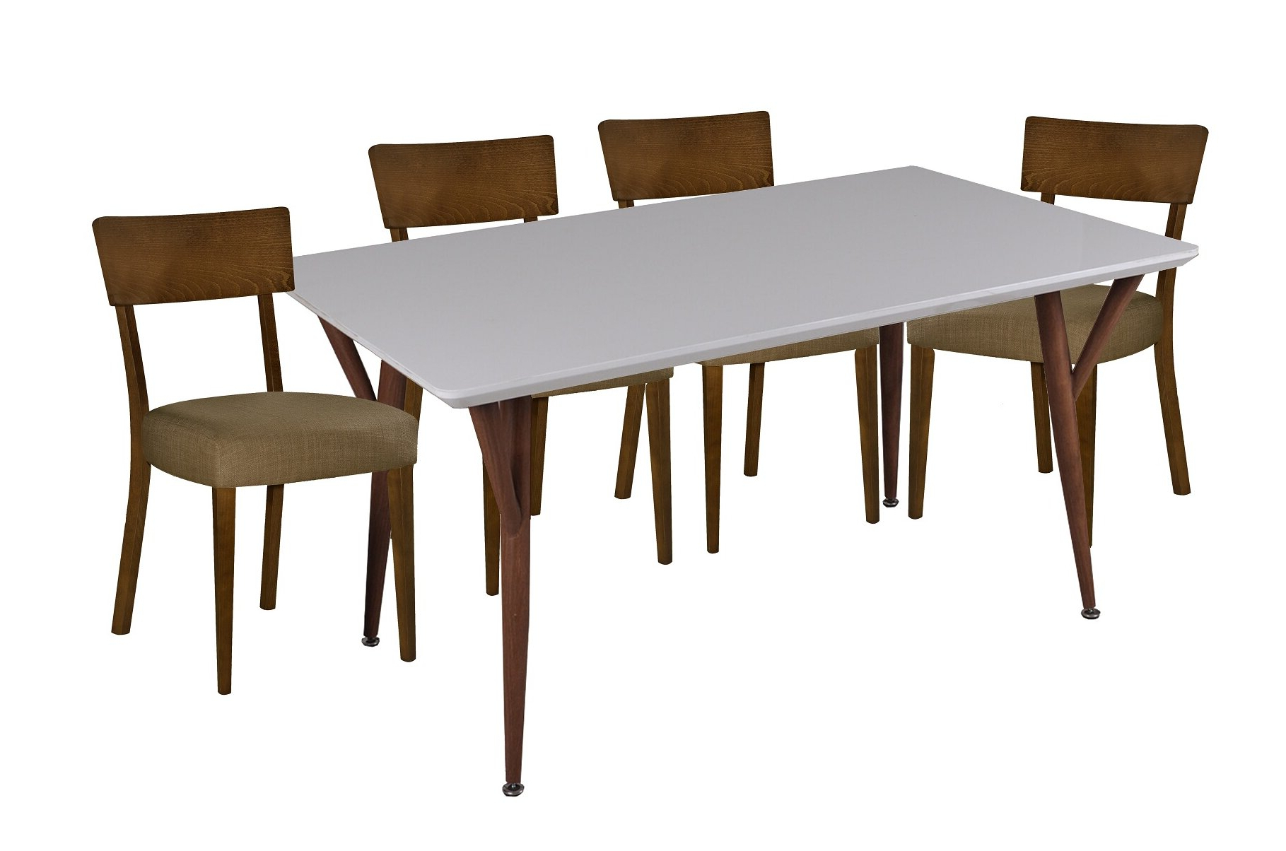 Hoosier 5 Piece Dining Set Intended For Well Known Turnalar 5 Piece Dining Sets (View 4 of 20)