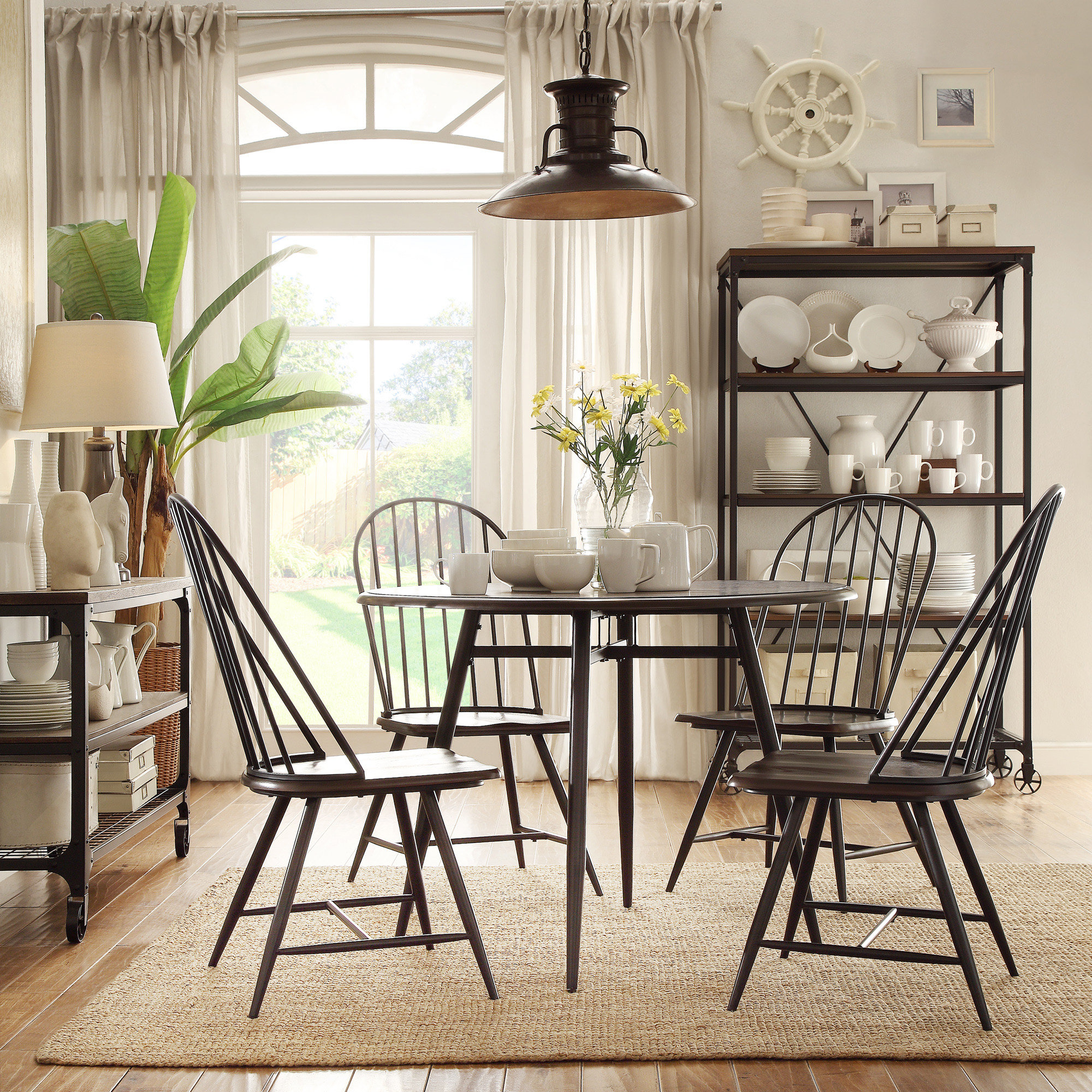 Hughley 5 Piece Dining Set Inside 2018 Bearden 3 Piece Dining Sets (View 13 of 20)