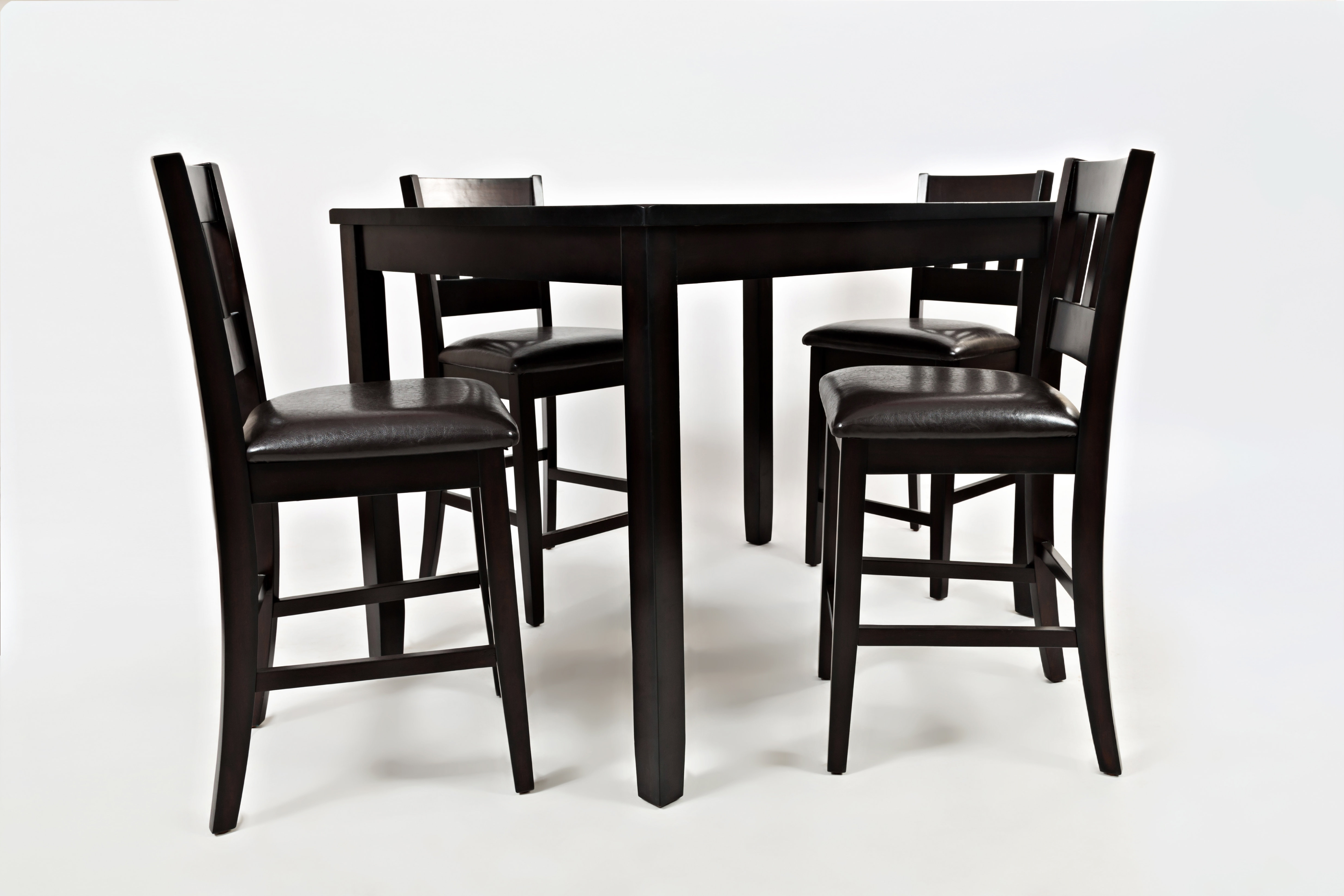 Jarrett 5 Piece Counter Height Solid Wood Dining Set Inside Most Popular Mizpah 3 Piece Counter Height Dining Sets (View 5 of 20)