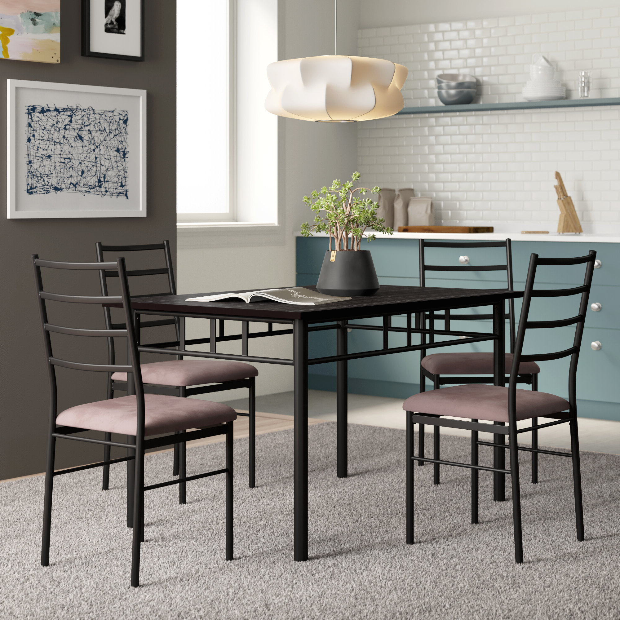 Jarrod 5 Piece Dining Set Inside Trendy Kieffer 5 Piece Dining Sets (View 3 of 20)