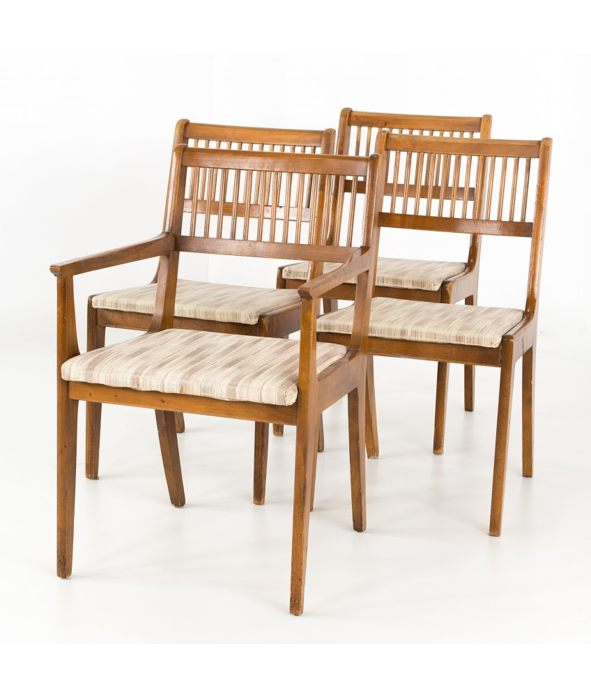 John 4 Piece Dining Sets Inside Newest John Van Koert For Drexel Mid Century Dining Chairs – Set Of  (View 9 of 20)