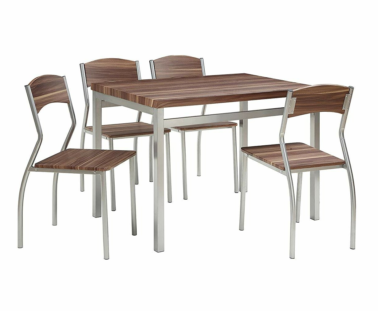 Kaelin 5 Piece Dining Set With Regard To Most Current Rarick 5 Piece Solid Wood Dining Sets (set Of 5) (Gallery 7 of 20)