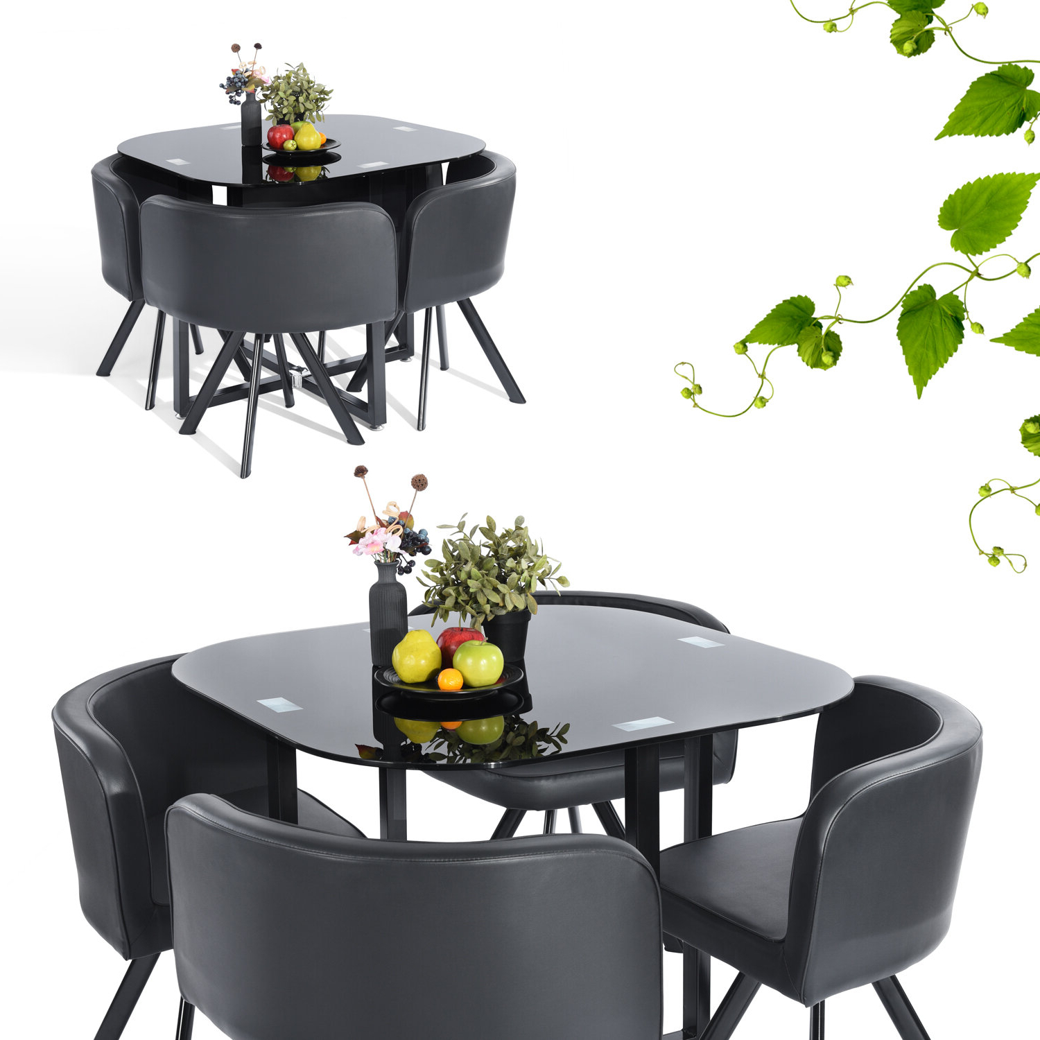 Kaelin 5 Piece Dining Sets With Recent Ebern Designs Lamons 5 Piece Dining Set (View 10 of 20)