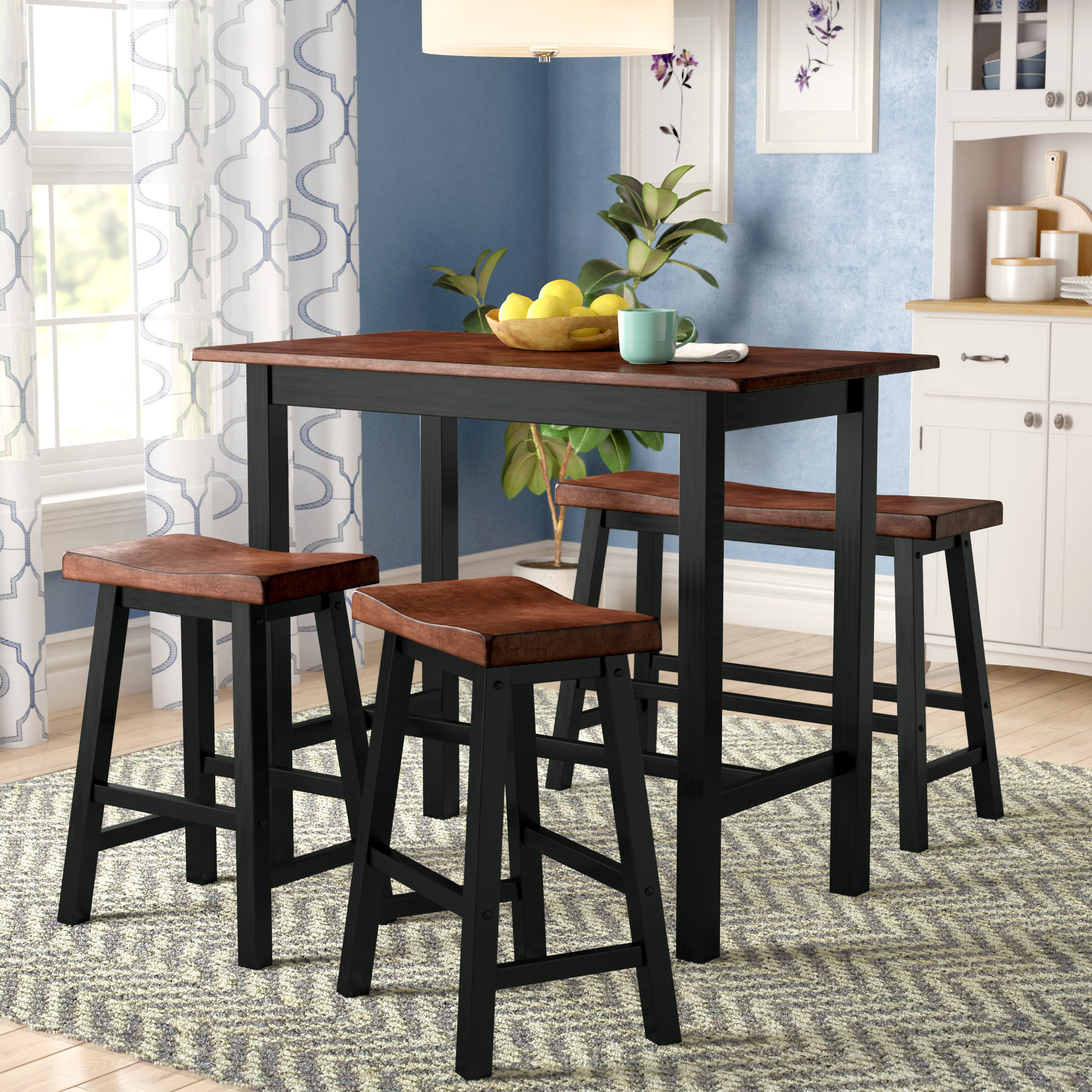 Kerley 4 Piece Dining Sets Pertaining To Favorite Winsted 4 Piece Counter Height Dining Set (View 7 of 20)