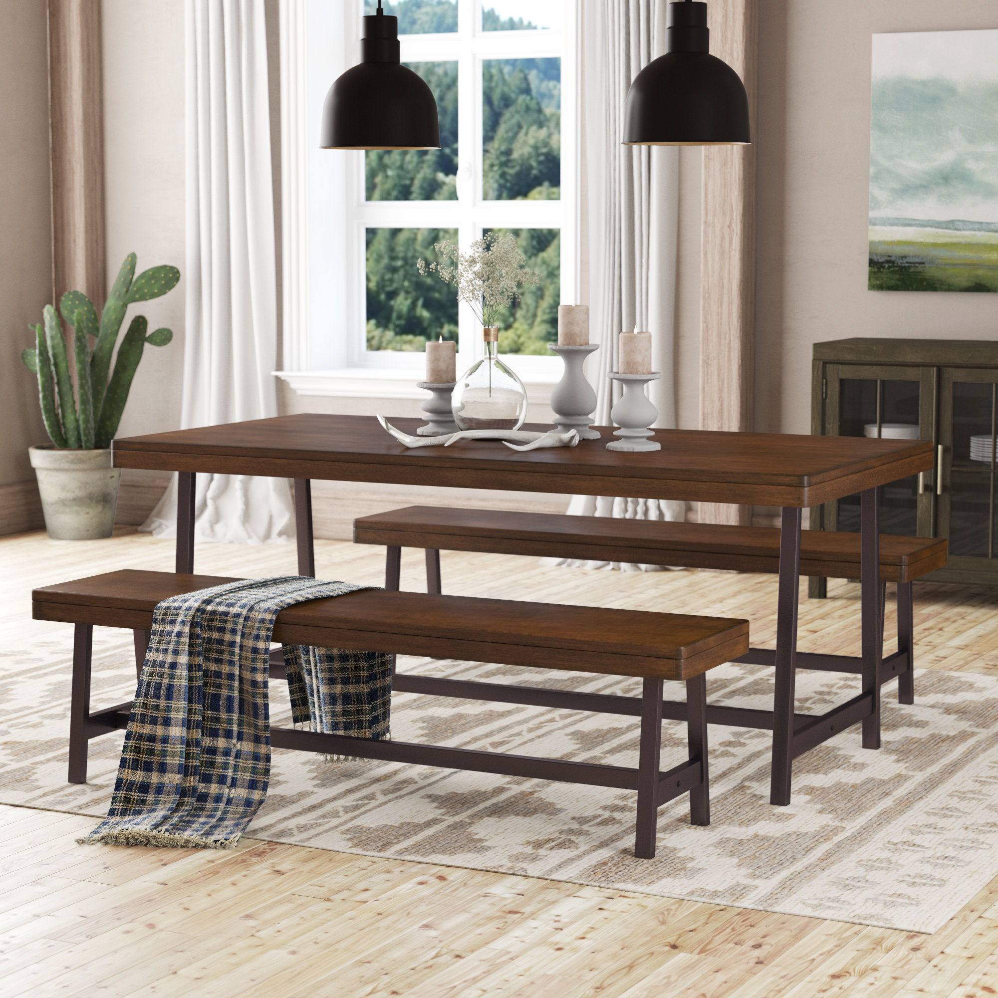 Kerley 4 Piece Dining Sets Regarding Fashionable Huntington 3 Piece Dining Set (View 9 of 20)