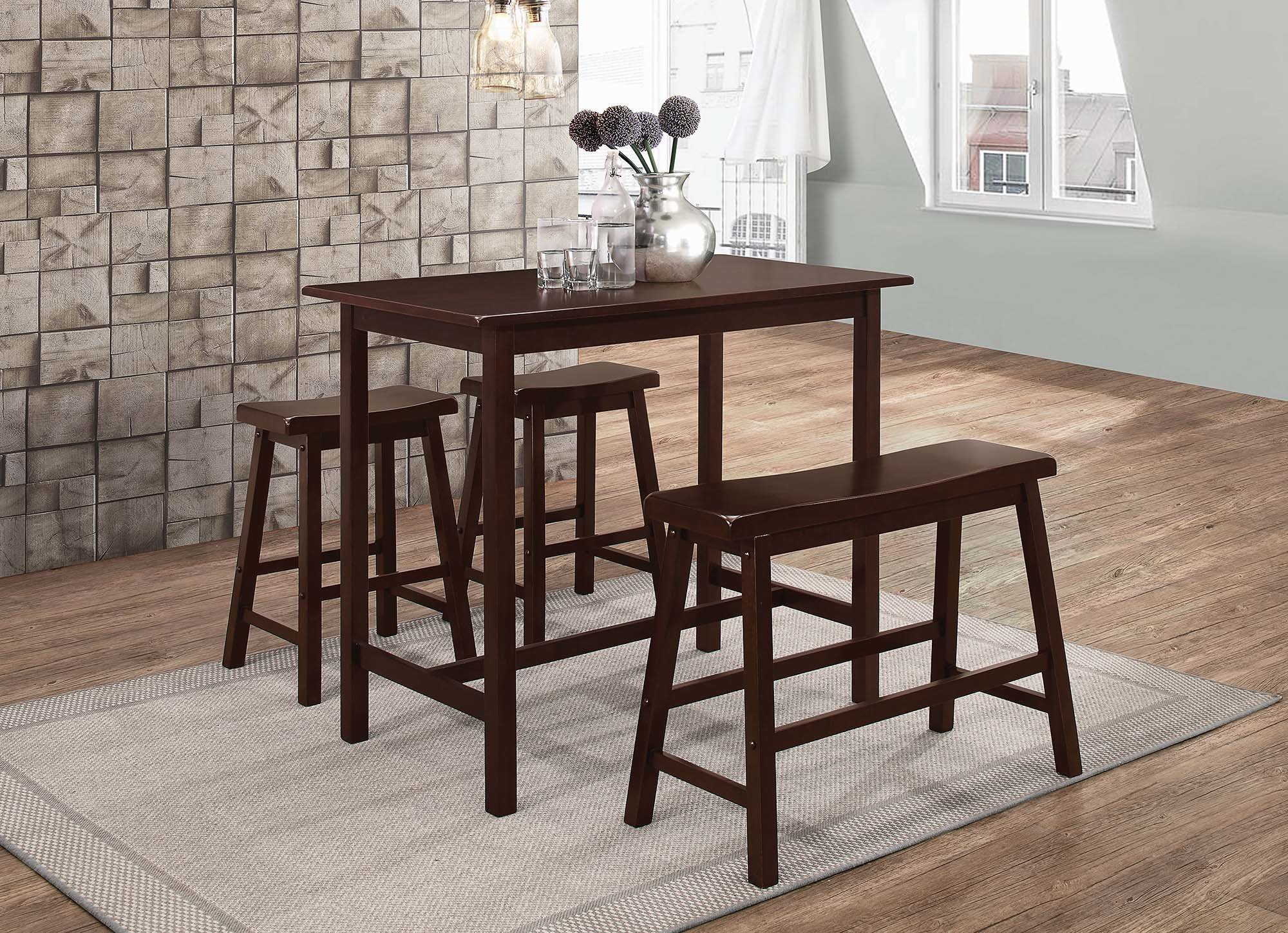Kernville 3 Piece Counter Height Dining Sets Regarding Most Up To Date Tassone 4 Piece Dining Set (View 7 of 20)