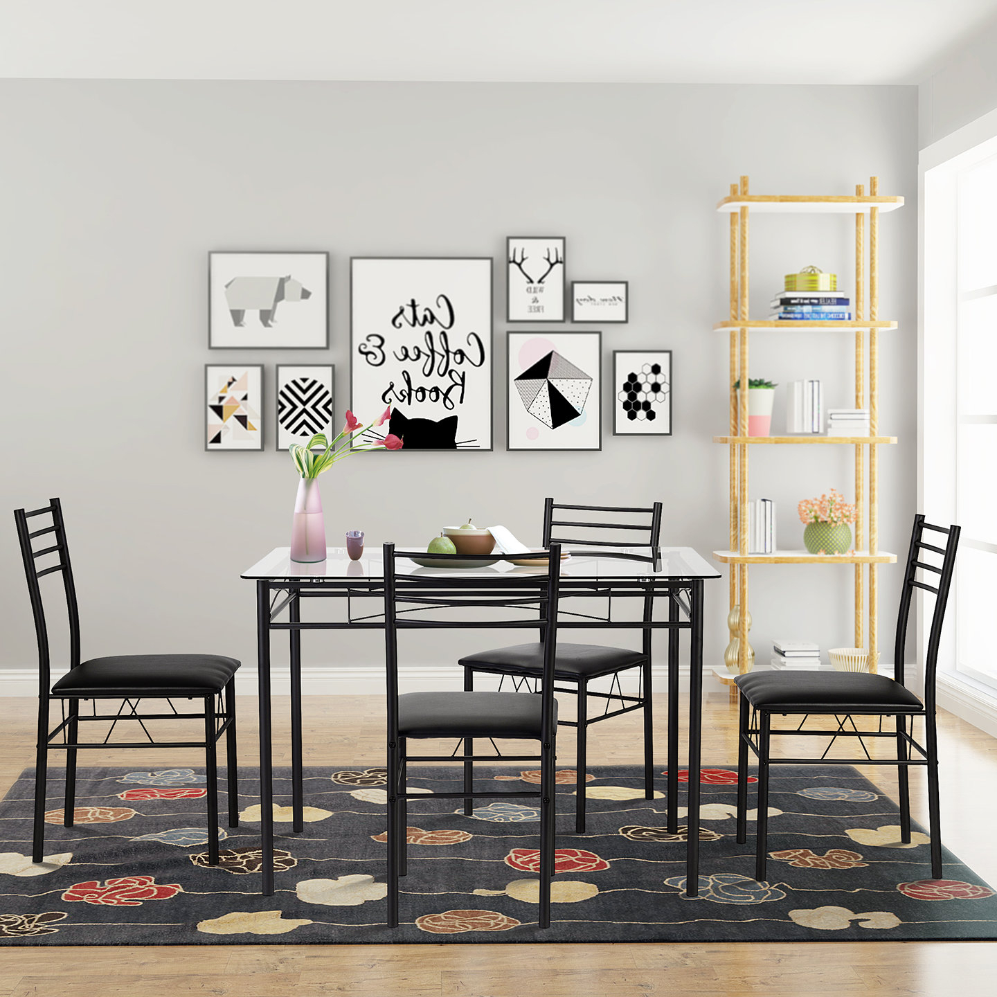 Kieffer 5 Piece Dining Sets Pertaining To Newest Taulbee 5 Piece Dining Set (View 6 of 20)