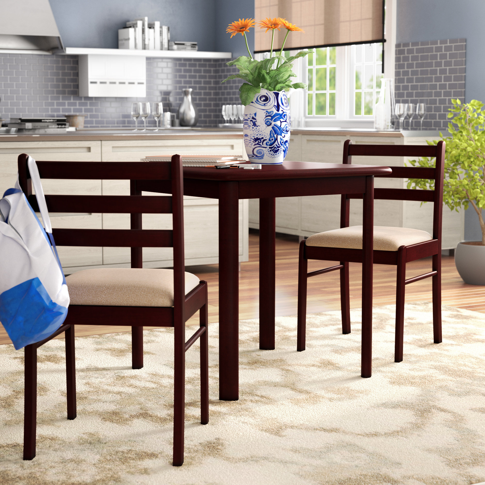 Kinsler 3 Piece Bistro Set With Regard To Fashionable Kinsler 3 Piece Bistro Sets (Gallery 1 of 20)