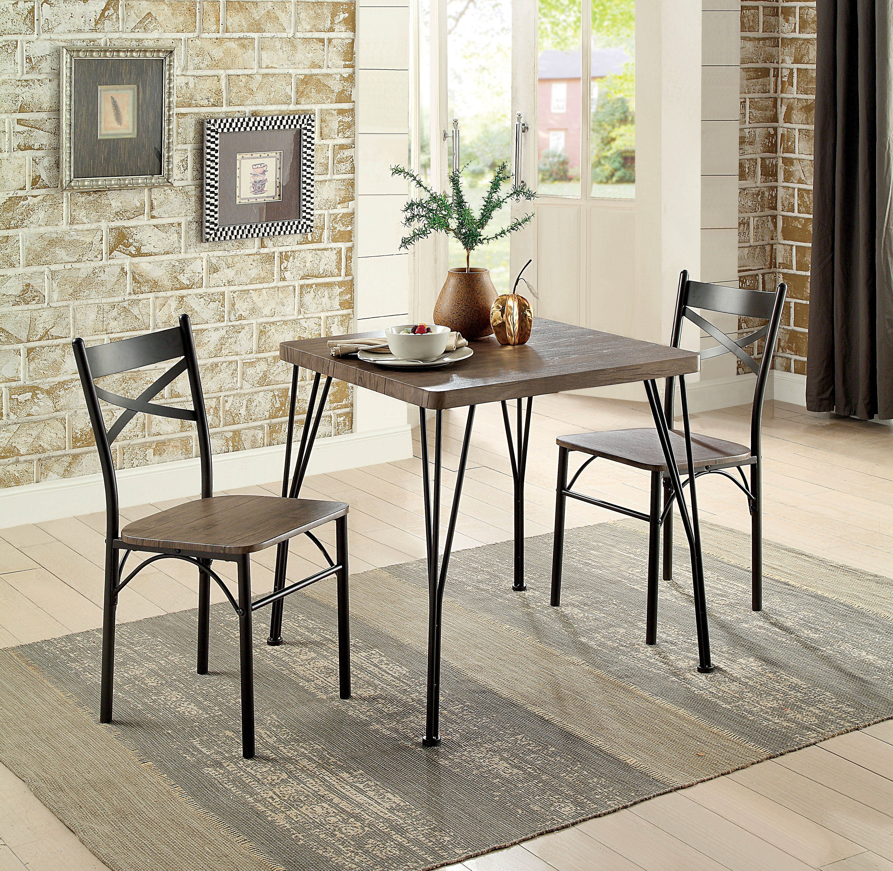 Kinsler 3 Piece Bistro Sets Intended For Best And Newest Guertin 3 Piece Dining Set (View 8 of 20)