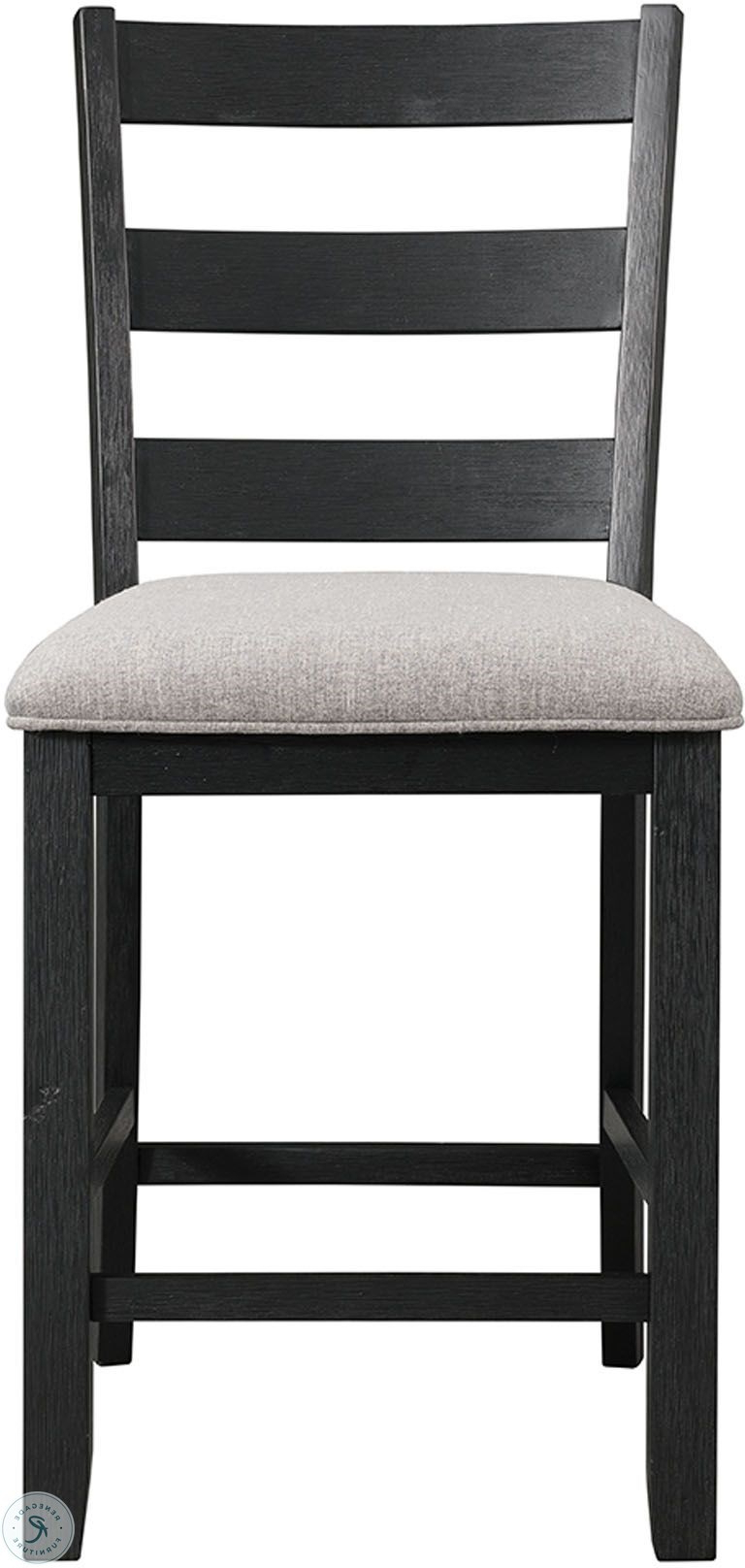 Kinsler 3 Piece Bistro Sets Within Widely Used Kona Gray And Black 5 Piece Counter Height Dining Room Set (View 12 of 20)