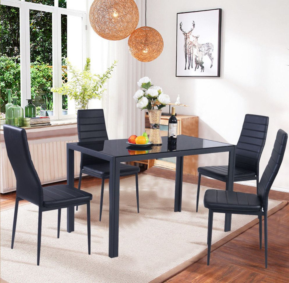 Kitchen Table Chairs With Regard To Ephraim 5 Piece Dining Sets (View 13 of 20)