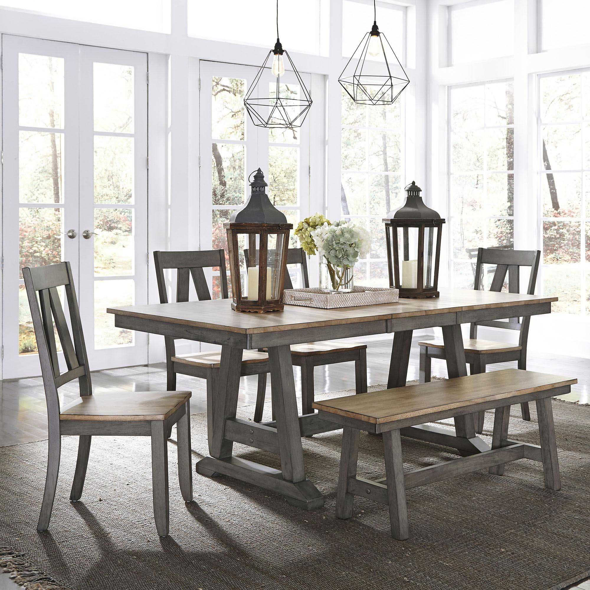 Kruger 6 Piece Extendable Solid Wood Dining Set Inside Most Up To Date Osterman 6 Piece Extendable Dining Sets (set Of 6) (Gallery 2 of 20)