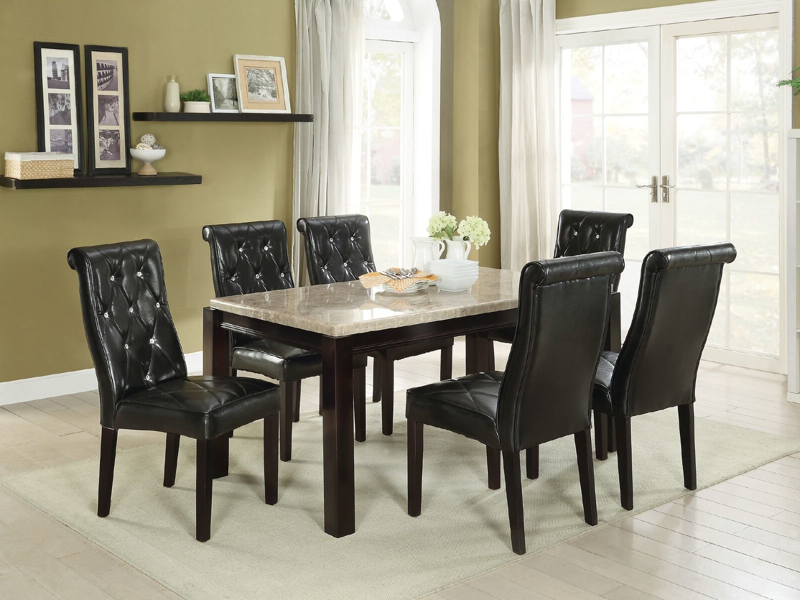 Laconia 7 Pieces Solid Wood Dining Sets (Set Of 7) Intended For Popular Hayman 7 Piece Dining Set (Gallery 16 of 20)