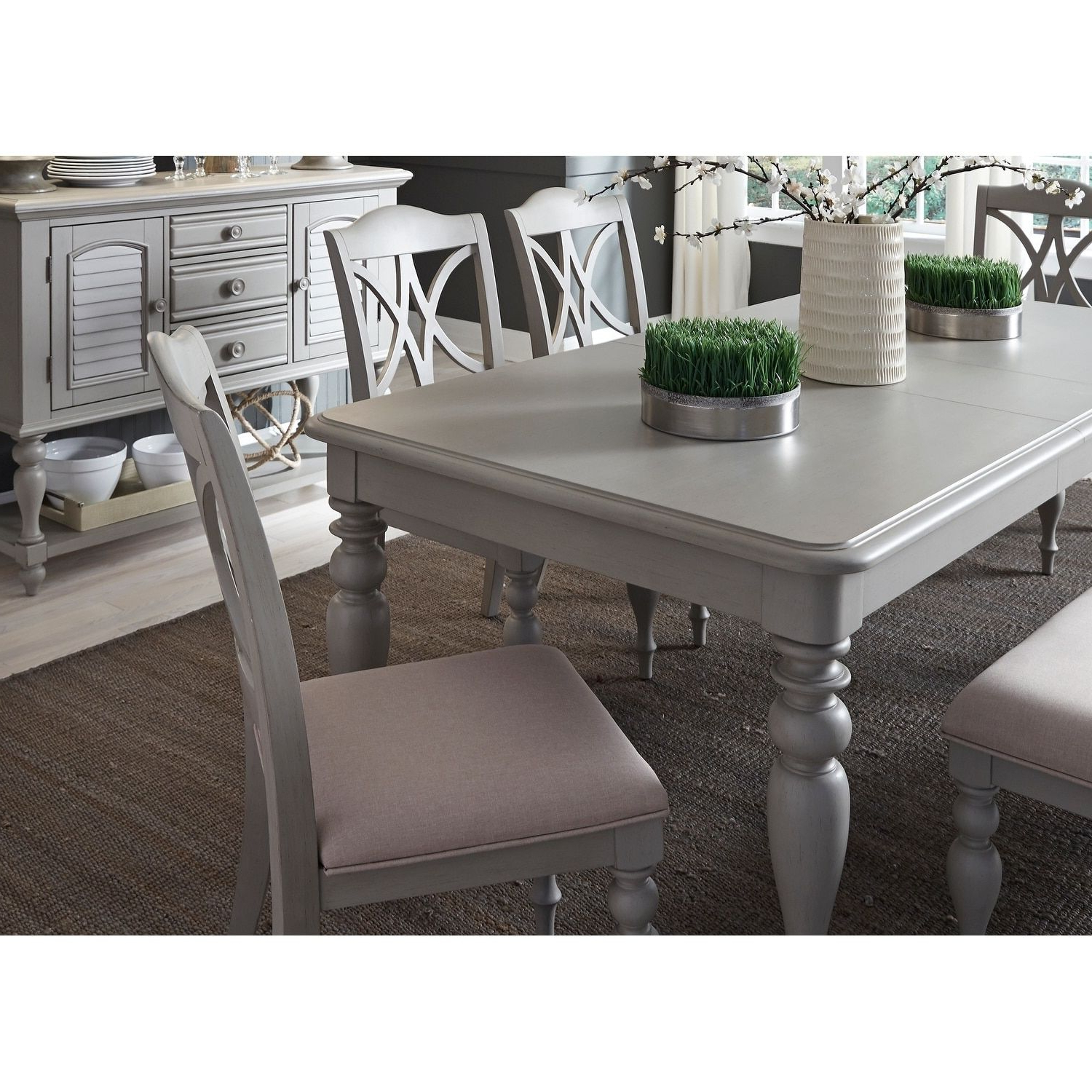 Lamotte 5 Piece Dining Sets Regarding Most Popular Liberty Summer House 40x78 Dove Gray Rectangular Dinette Table (View 6 of 20)