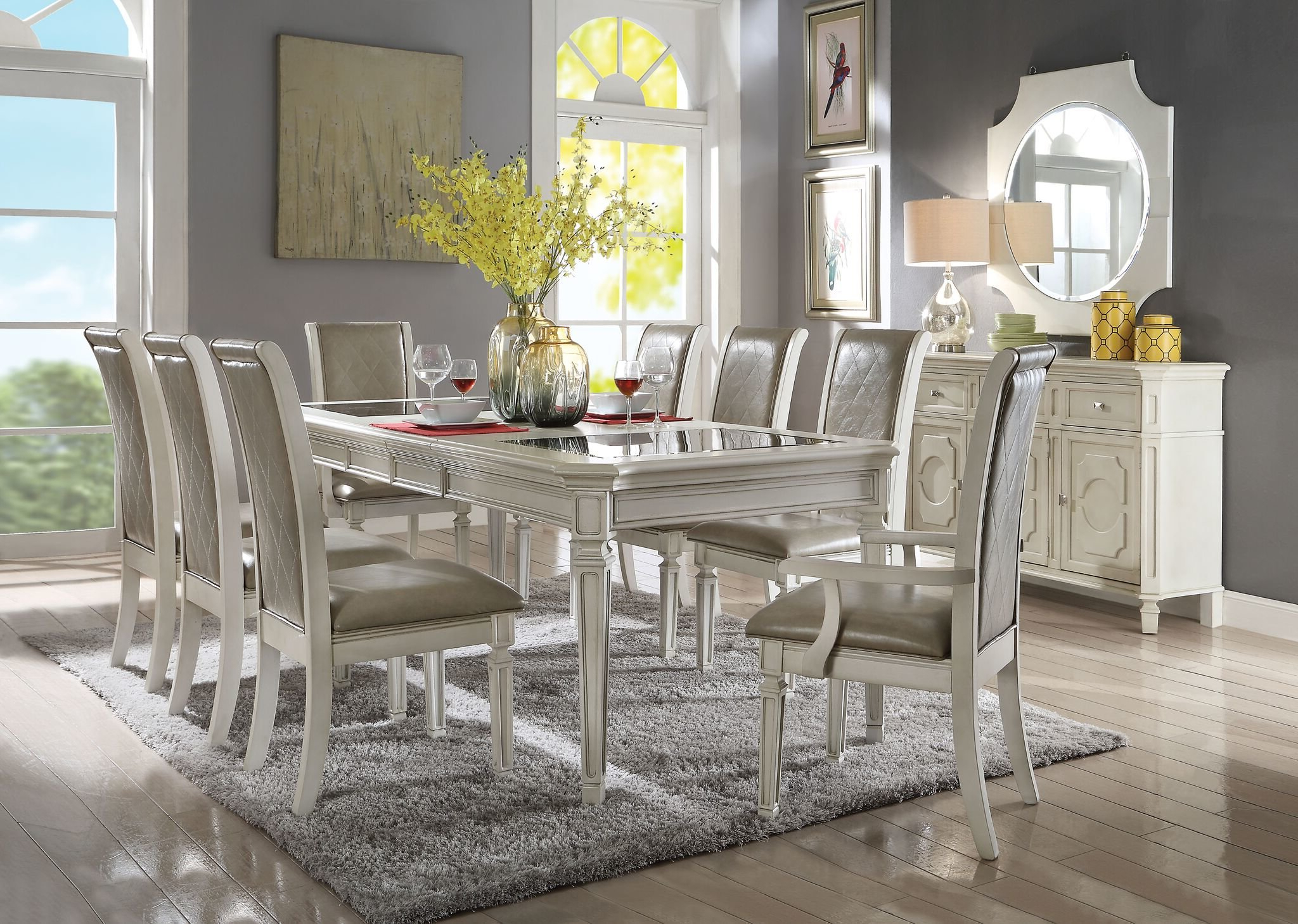 Lamotte Upholstered Dining Chair Throughout Well Known Lamotte 5 Piece Dining Sets (Gallery 16 of 20)