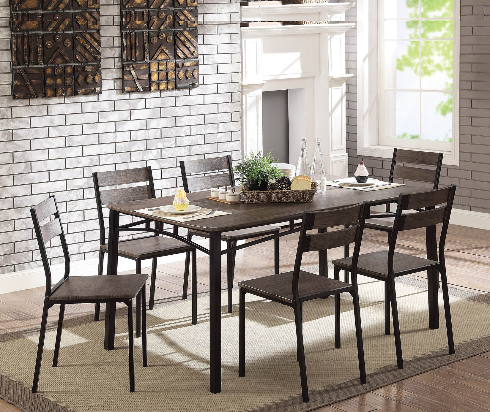 Latest Autberry 5 Piece Dining Sets Within Autberry 7 Piece Dining Set (View 6 of 20)