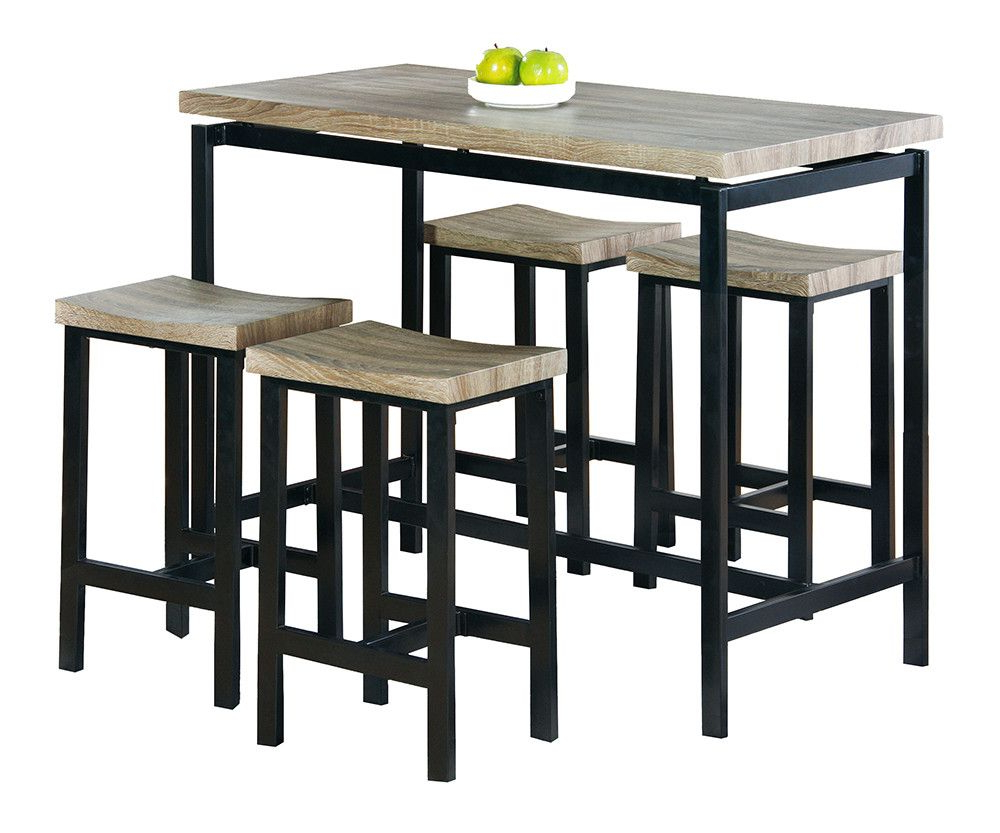 Latest Bourges 5 Piece Pub Table Set (View 12 of 20)