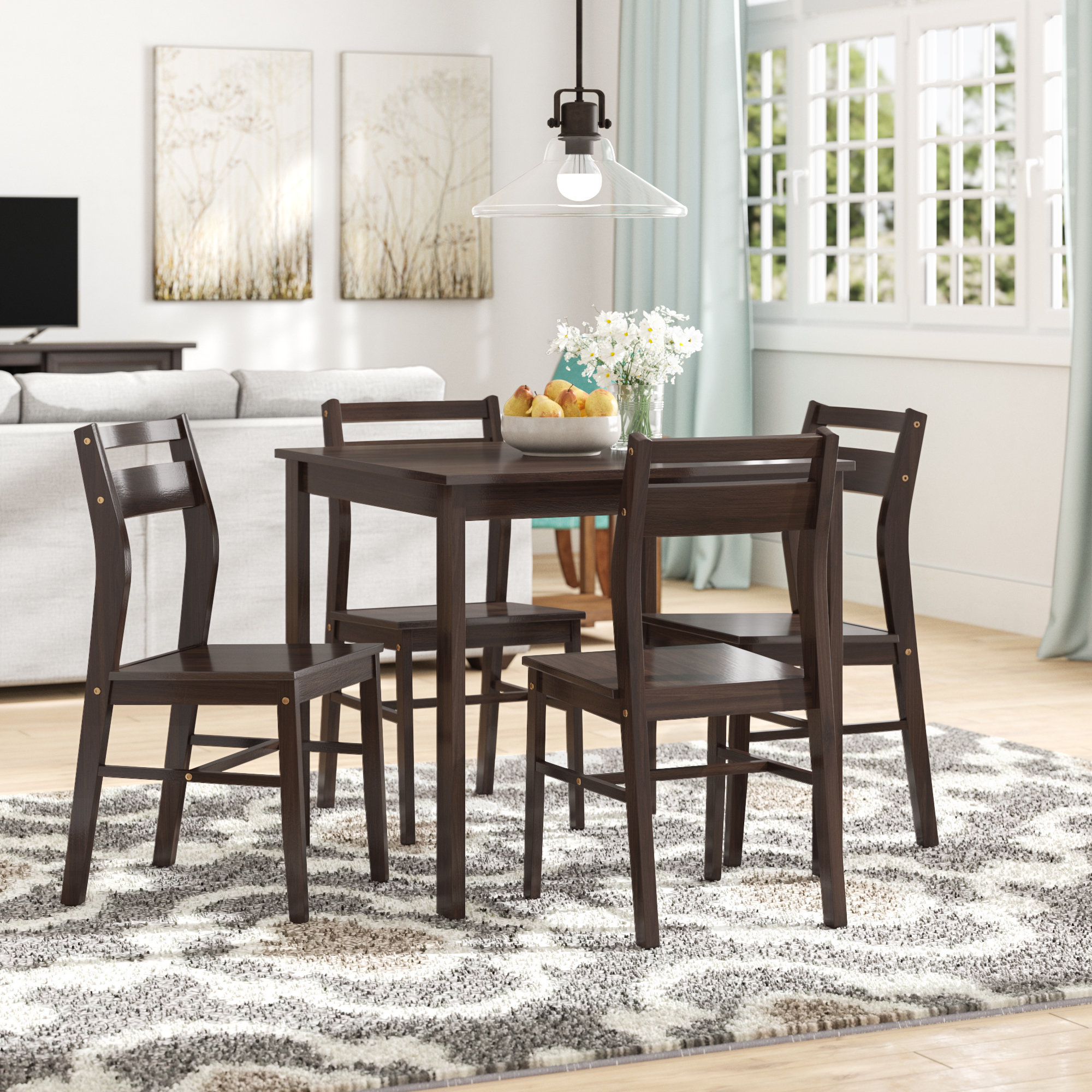 Latest Bryson 5 Piece Dining Sets Intended For Hersom 5 Piece Dining Set (Gallery 13 of 20)